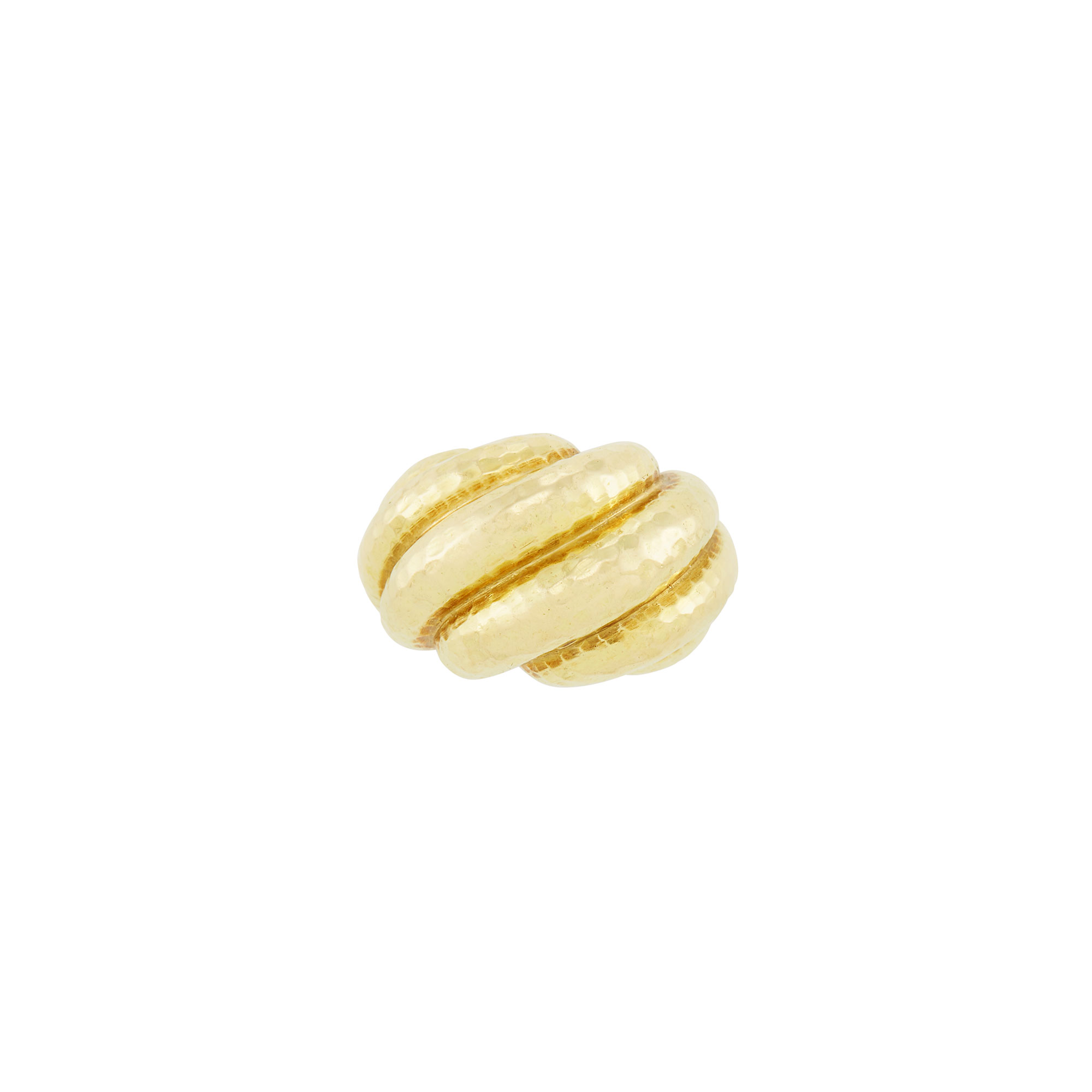 Lot image - Hammered Gold Dome Ring, David Webb