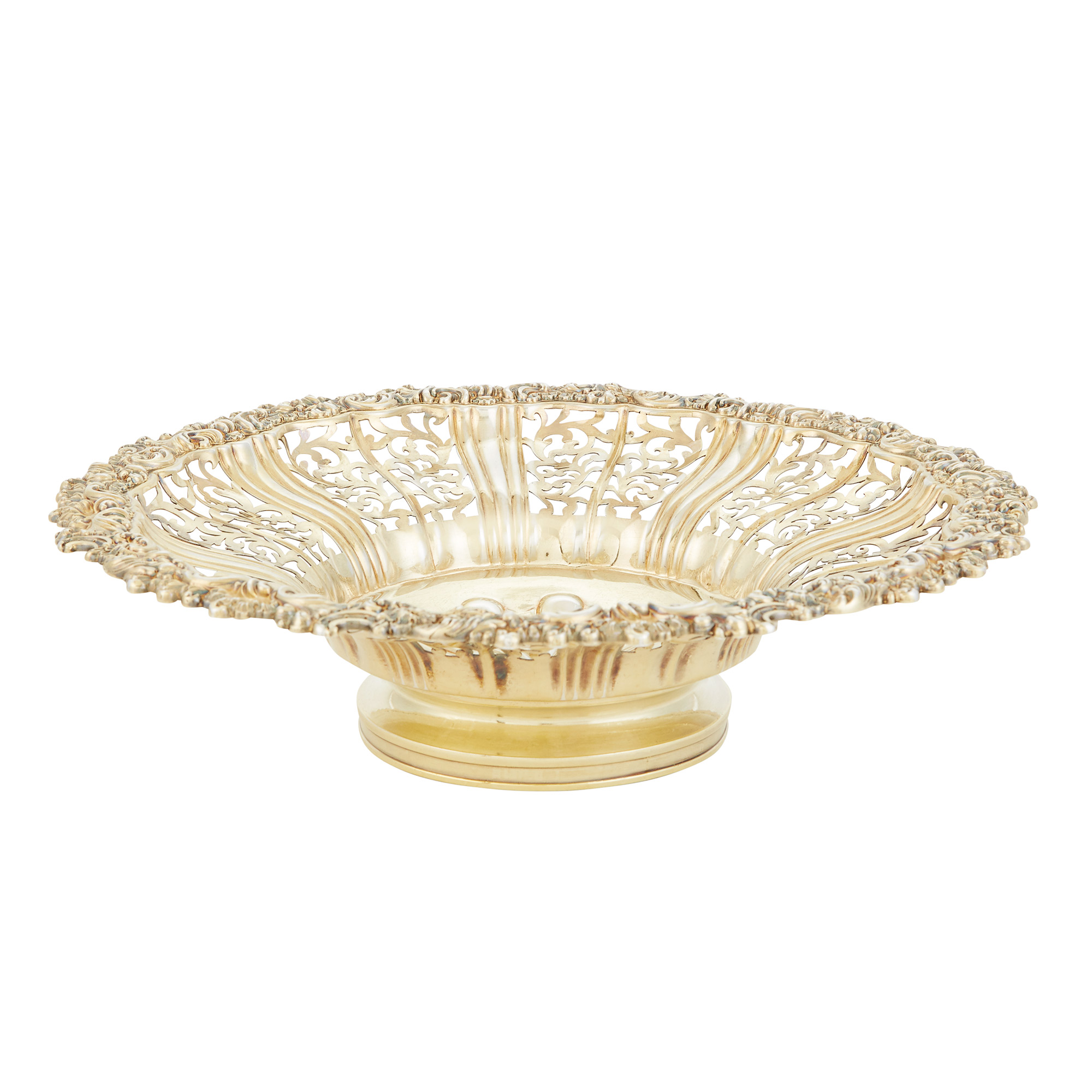 Lot image - George IV Silver Gilt Dessert Basket