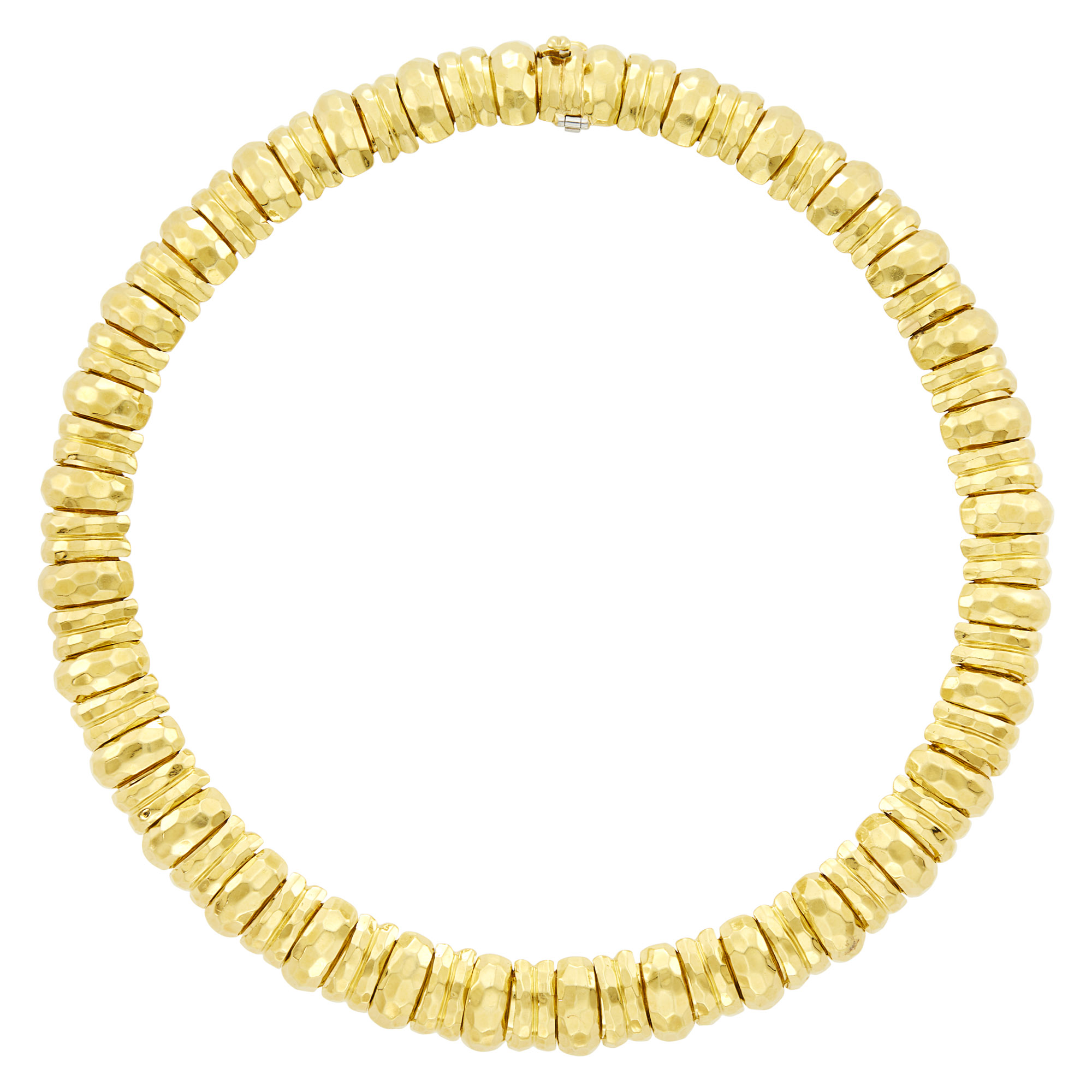 Lot image - Henry Dunay Hammered Gold Necklace