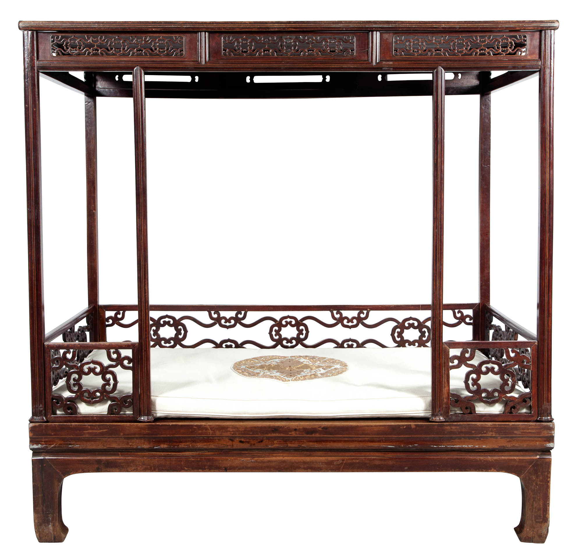Lot image - Chinese Elmwood Canopy Bed