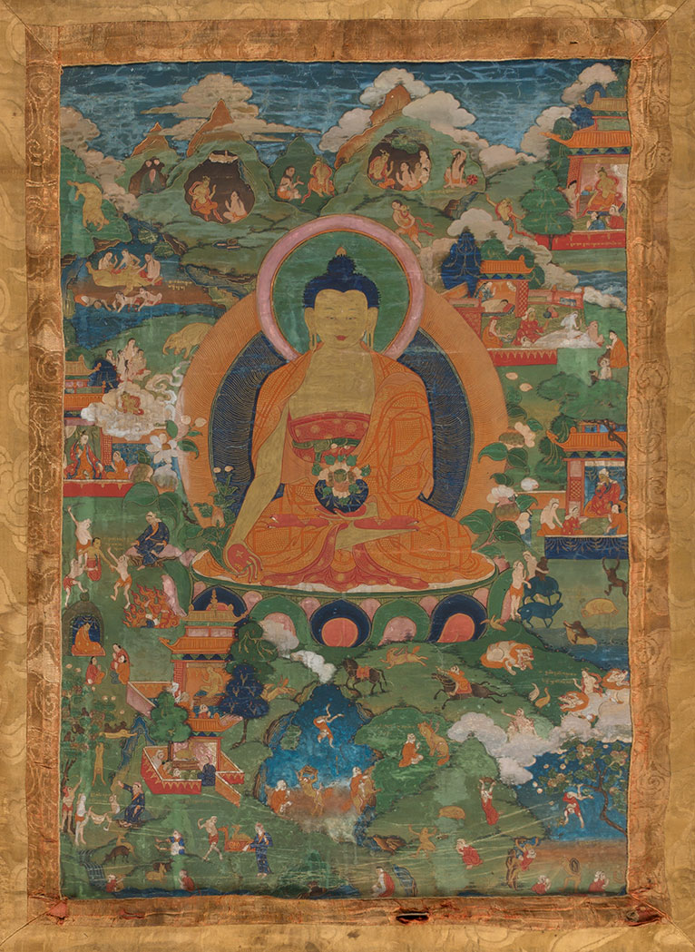 Lot image - Tibetan Thangka of Shakyamuni Buddha