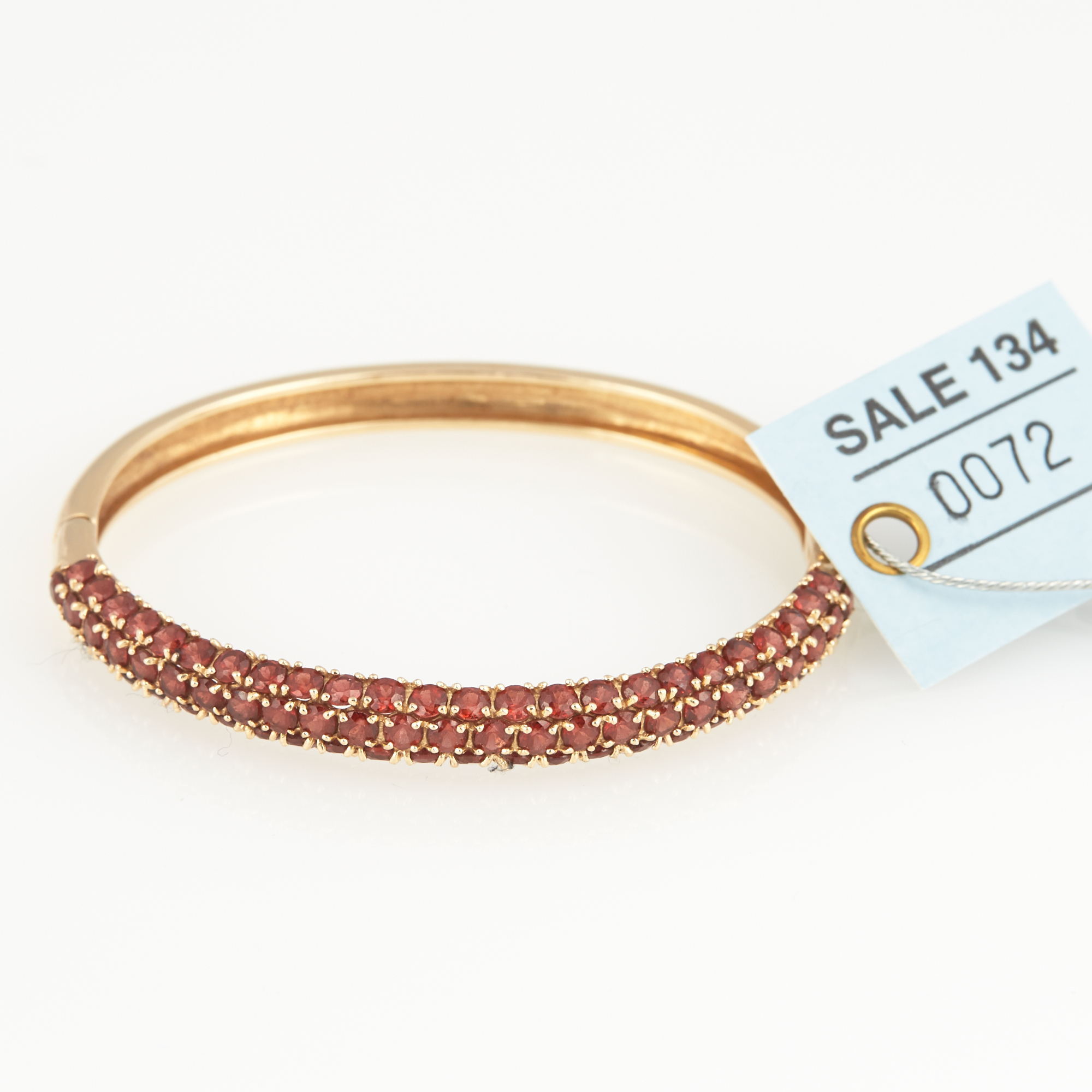 Lot image - Gold and Stone Rigid Bracelet, 14K 11 dwt. all