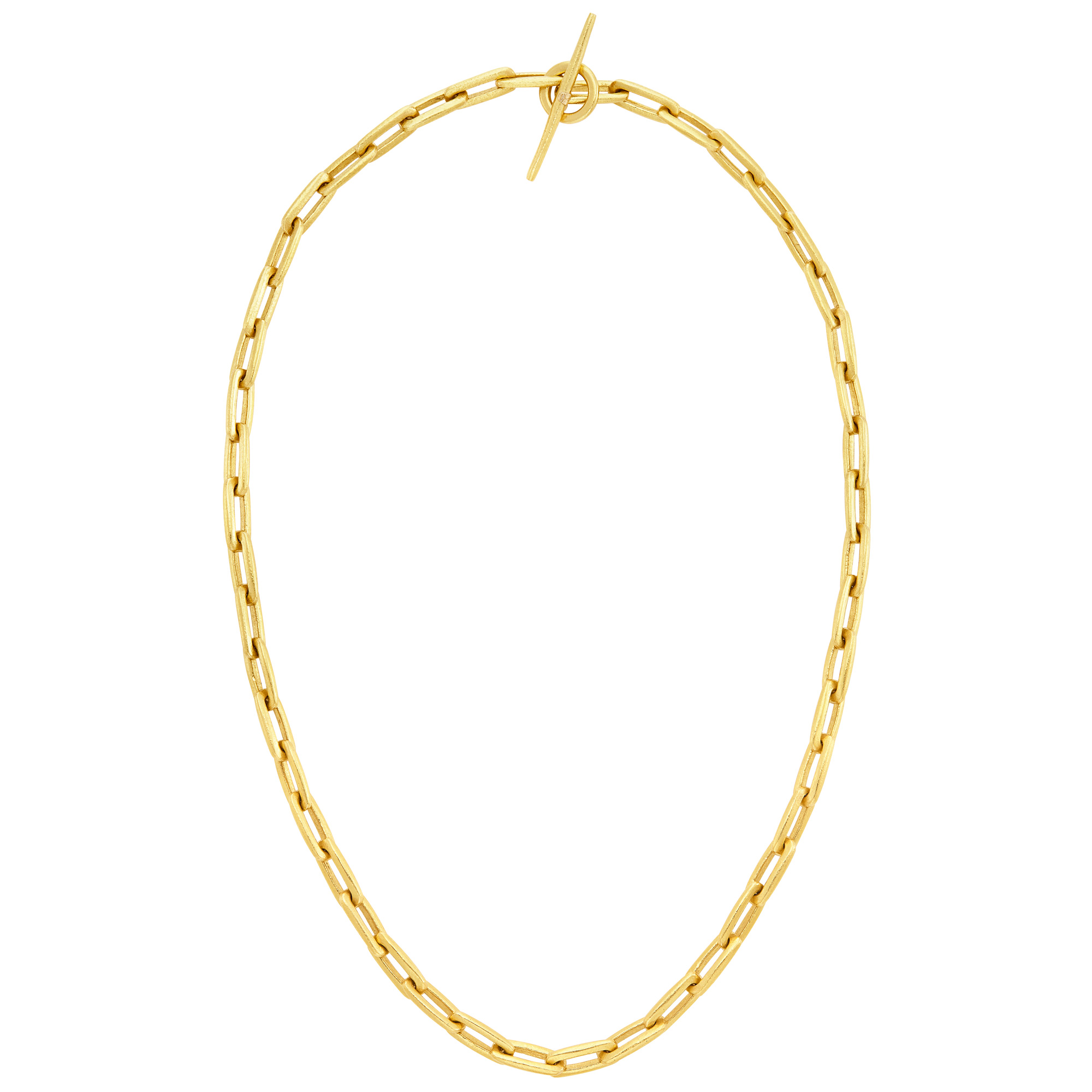 Lot image - High Karat Gold Link Necklace, Linda Lee Johnson