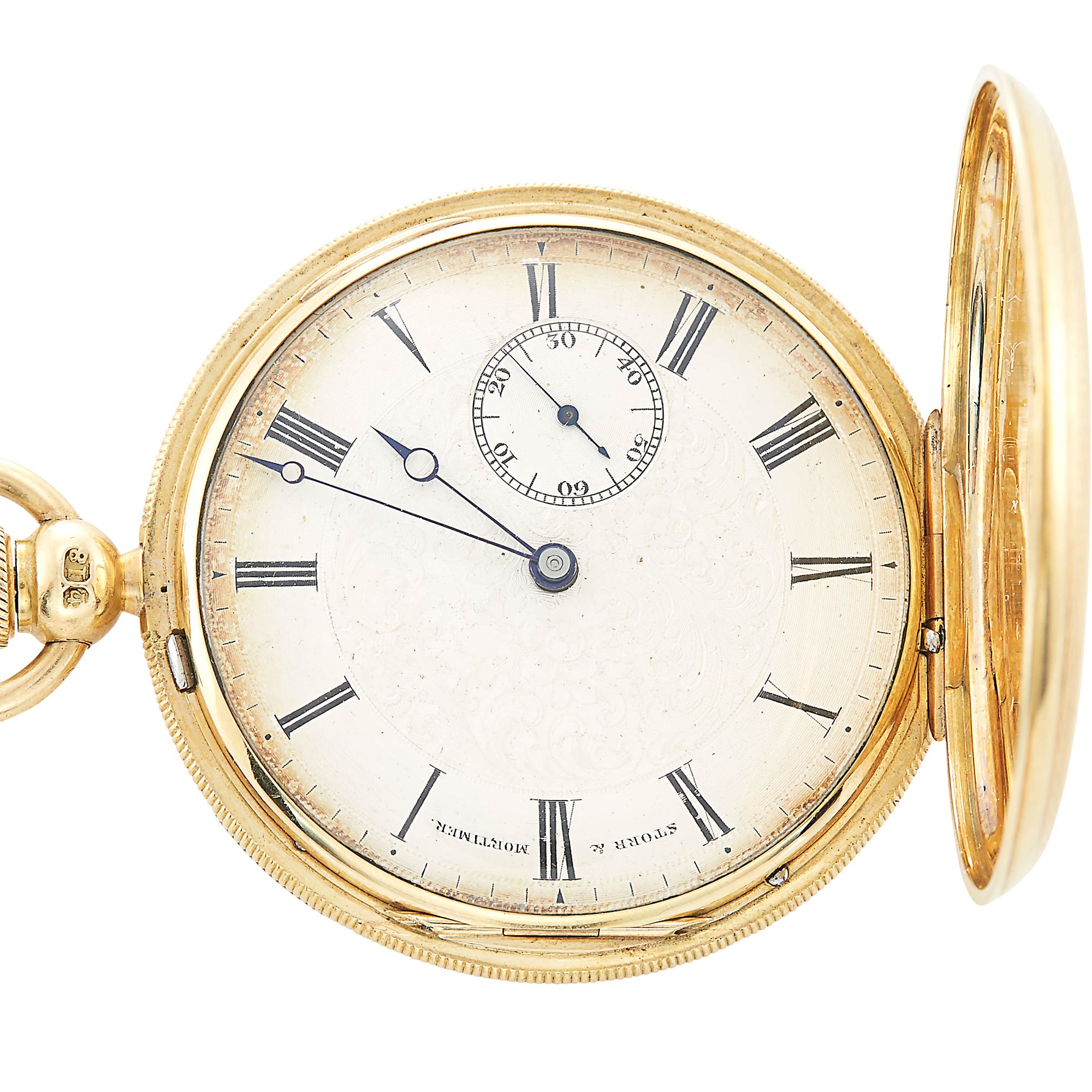 Lot image - English 18K Gold Hunting Case Pocket Watch