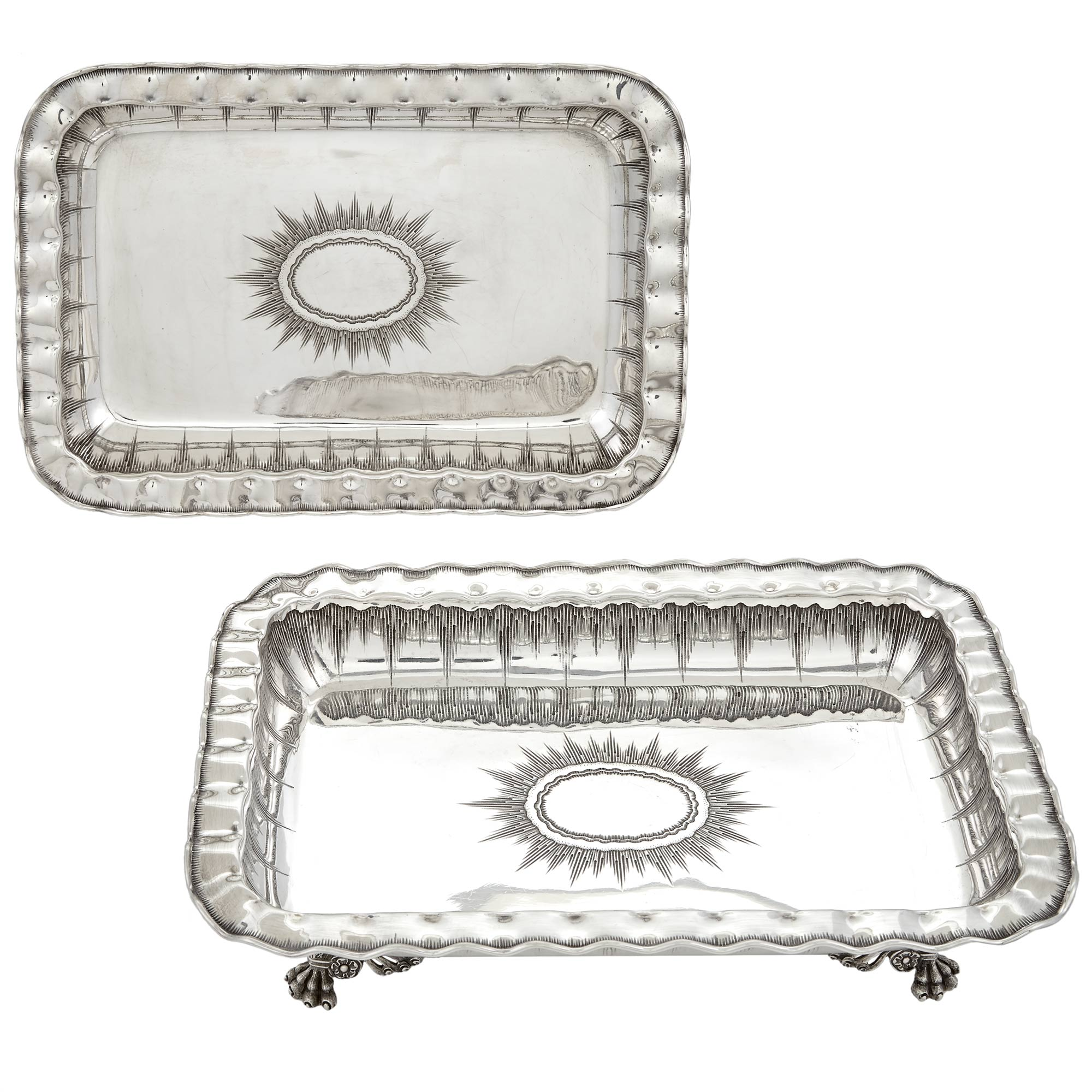 Lot image - Pair of Victorian Sterling Silver Open Vegetable Dishes