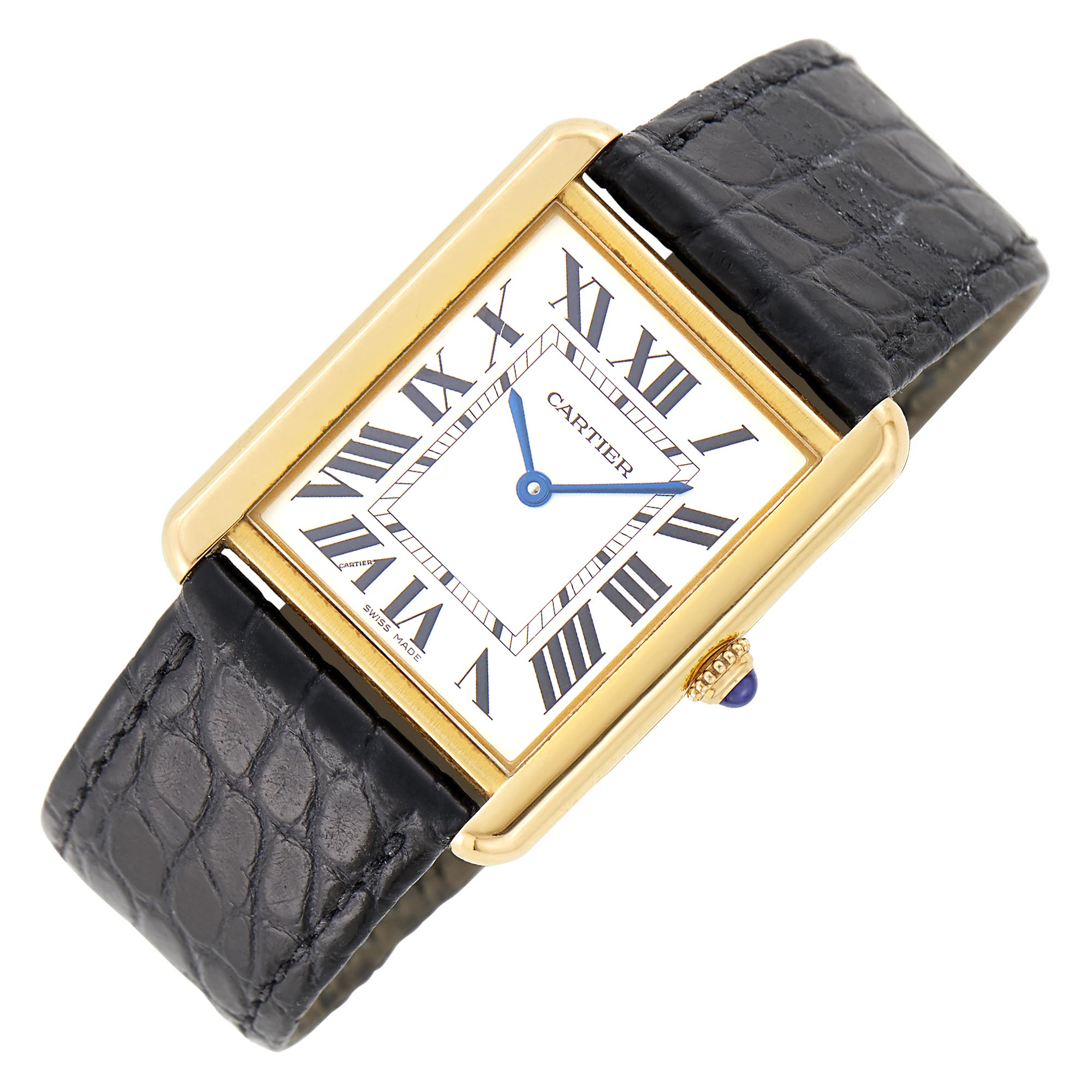 Lot image - Cartier Gold and Stainless Steel Tank Wristwatch, Ref. 3167