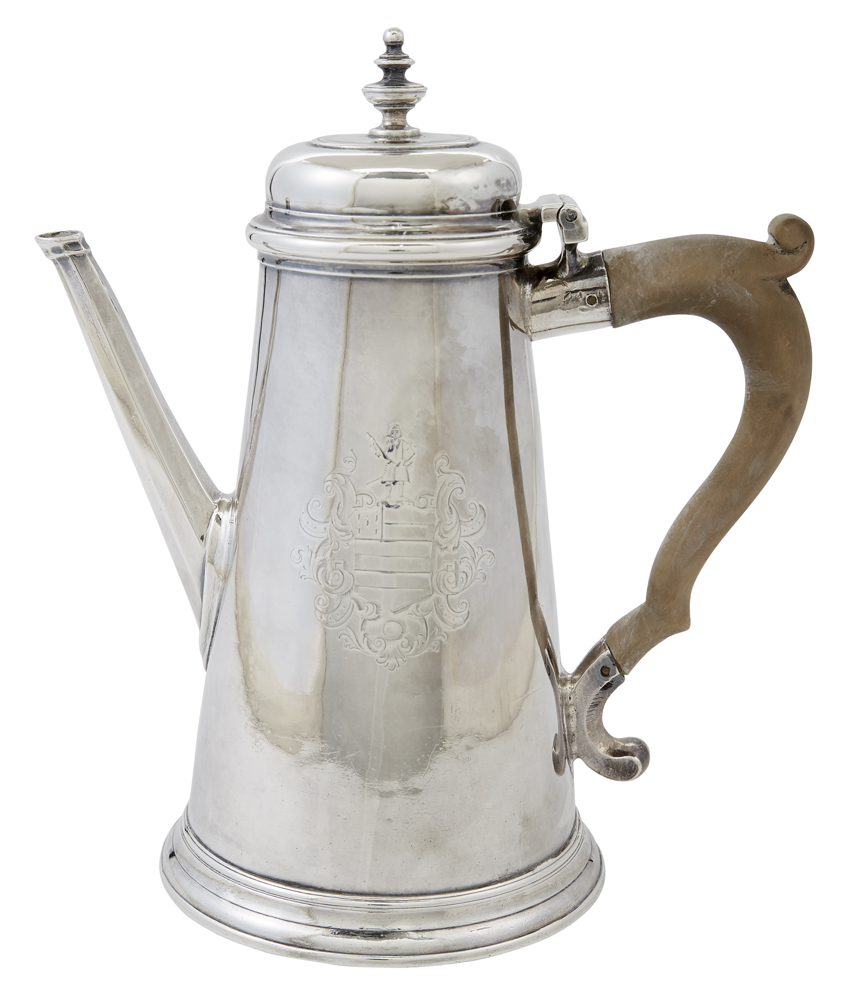 Lot image - George II Sterling Silver Coffee Pot