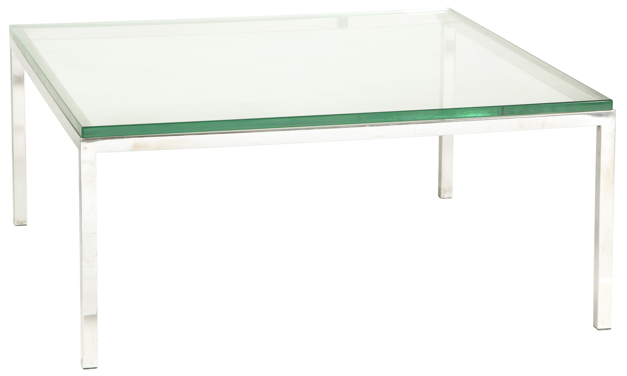Lot image - Pace Chrome and Glass Low Table