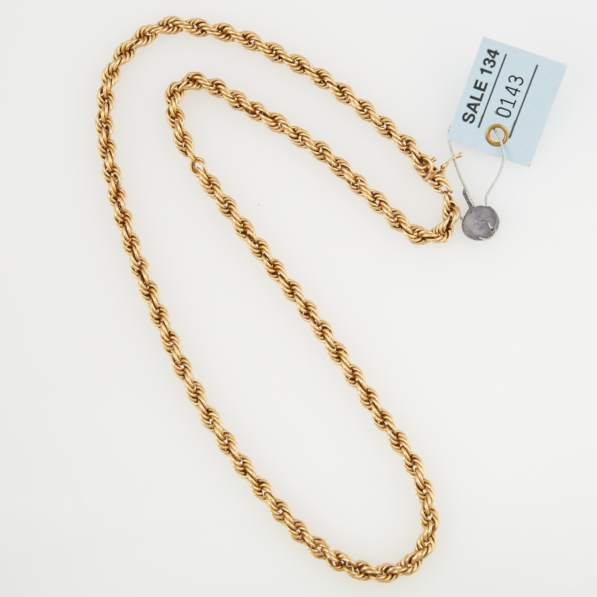 Lot image - Gold Neck Chain, 14K 15 dwt.