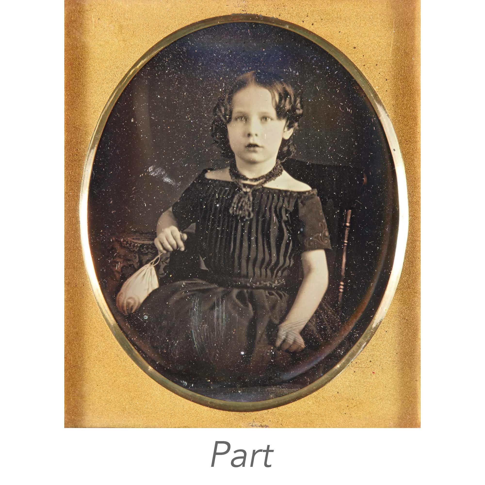 Lot image - [DAGUERREOTYPE-CHILDREN]  Three images.