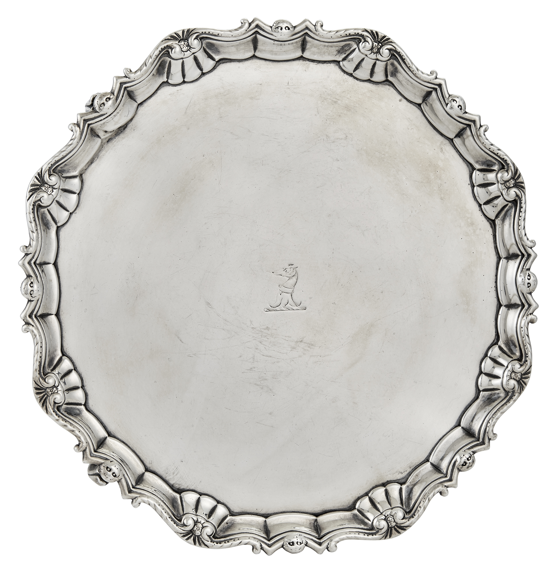Lot image - George II Irish Sterling Silver Salver