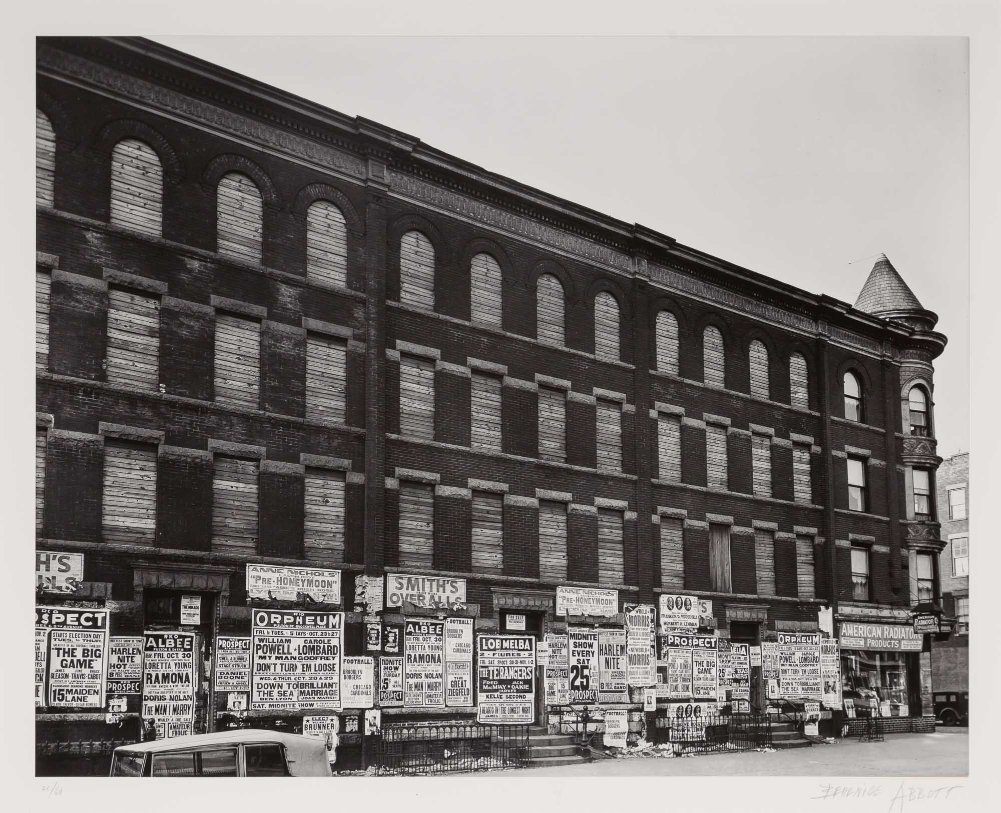 Lot image - ABBOTT, BERENICE (1898-1991)  4th Avenue, no. 154, Brooklyn,
