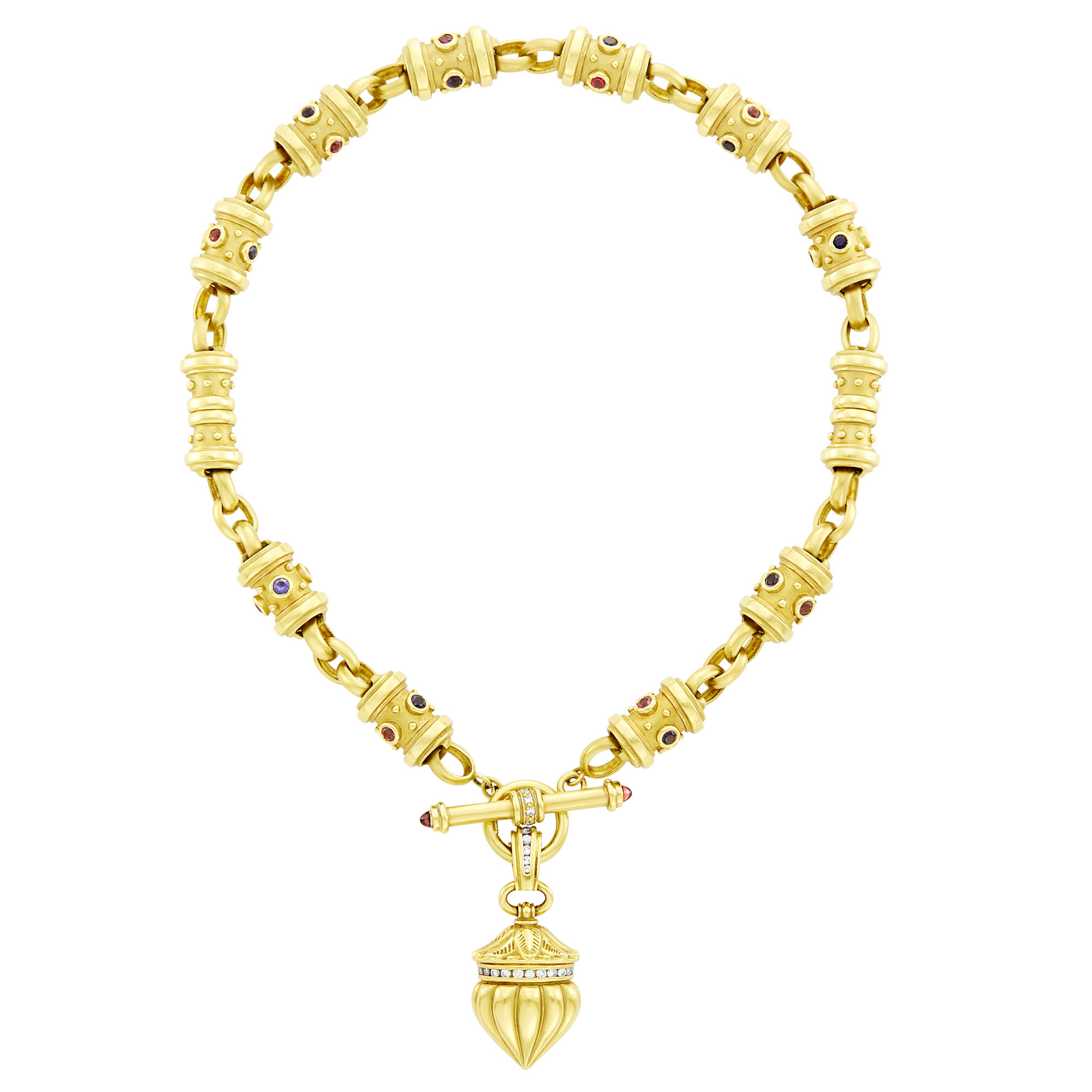 Lot image - SeidenGang Gold, Diamond and Gem-Set Toggle Necklace