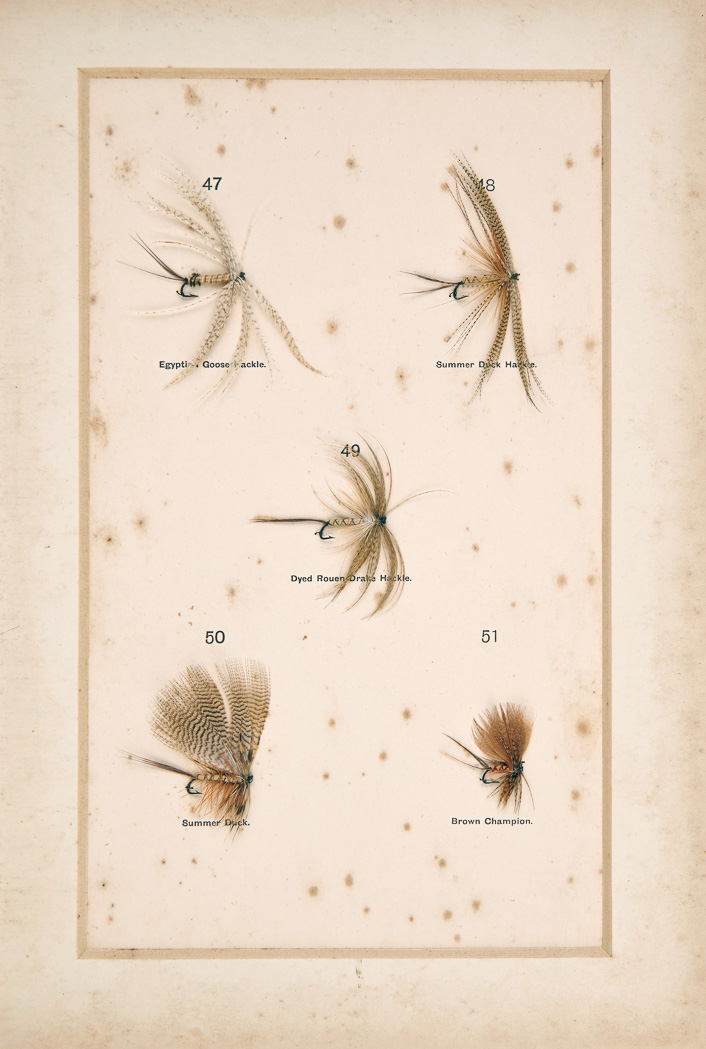 Lot image - HALFORD, FREDERIC M.  Dry Fly Entomology, a brief description of the leading types of natural insects serving as food  for trout and grayling with the 100 best patterns of floating flies and the various methods of dressing them.