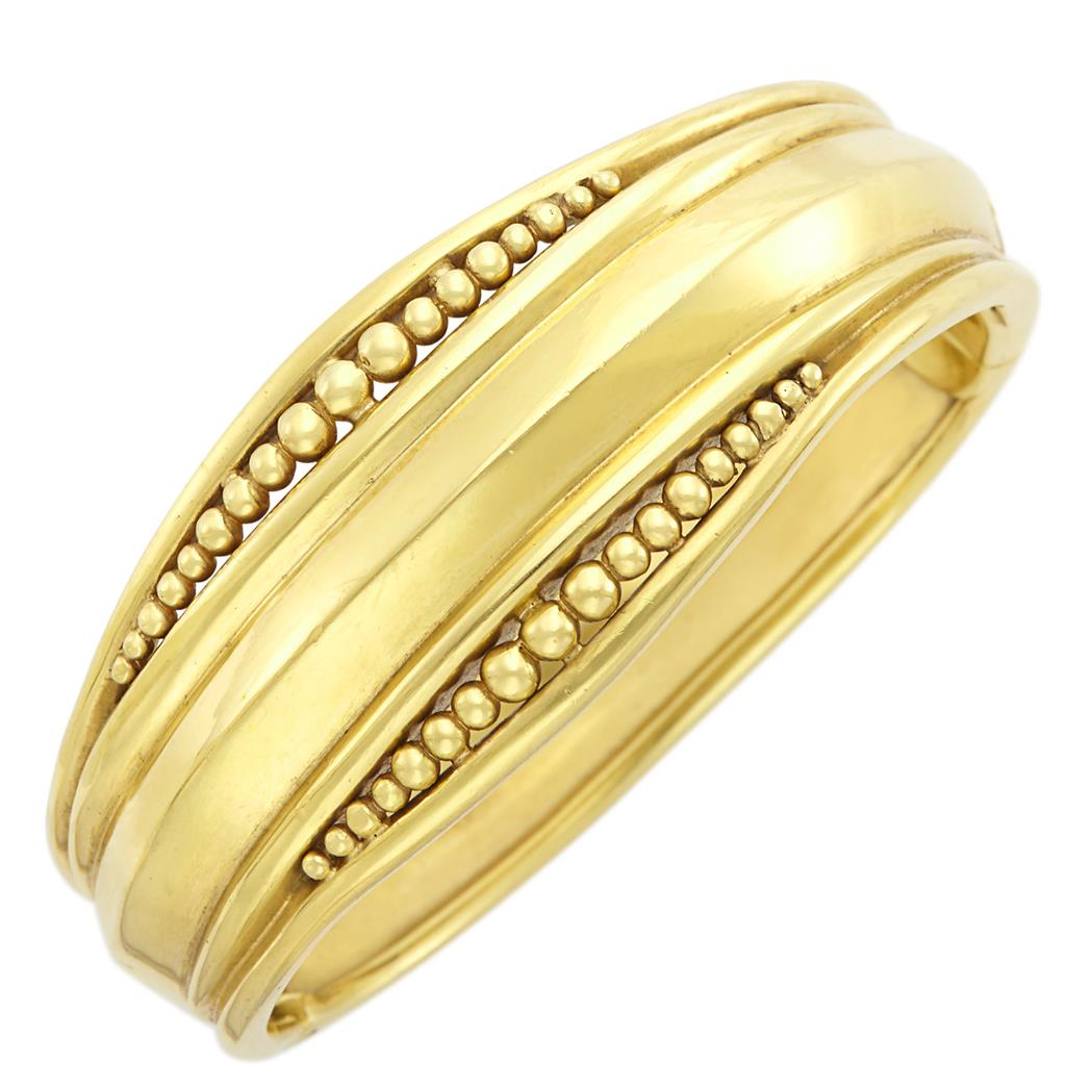 Lot image - Gold Bangle Bracelet, Helen Woodhull