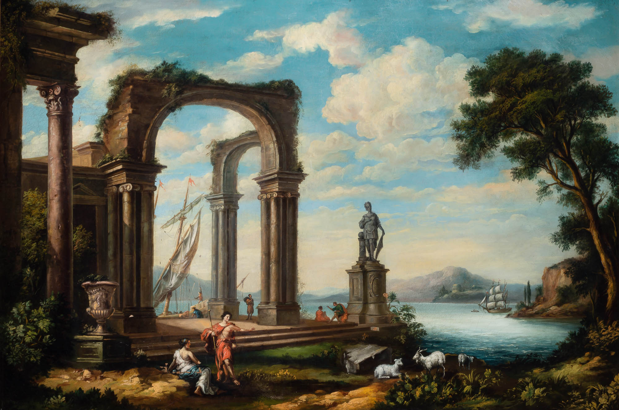 Lot image - Manner of Giovanni Paolo Panini