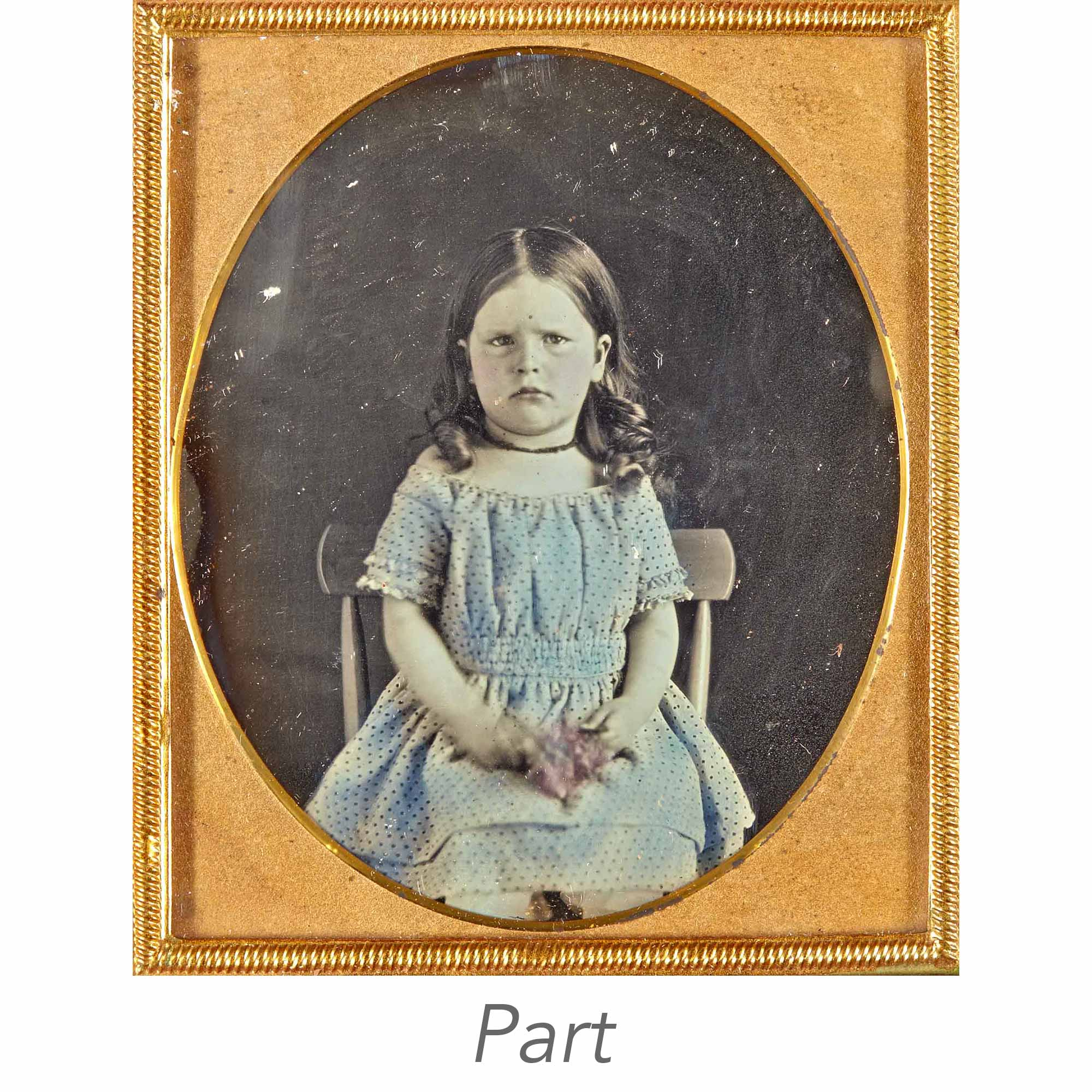 Lot image - [DAGUERREOTYPE-CHILDREN]   Five images of young children.