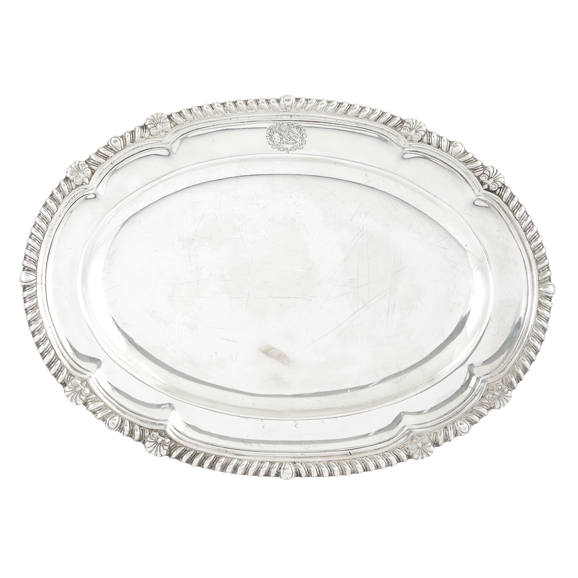 Lot image - George III Sterling Silver Platter