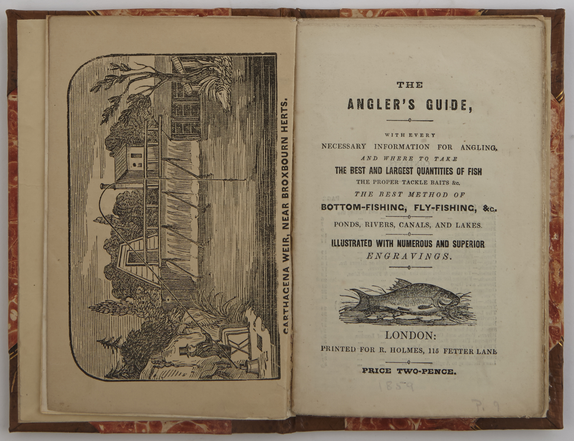 Lot image - [ANON.]  The Anglers Guide, with Every Necessary Information for Angling...