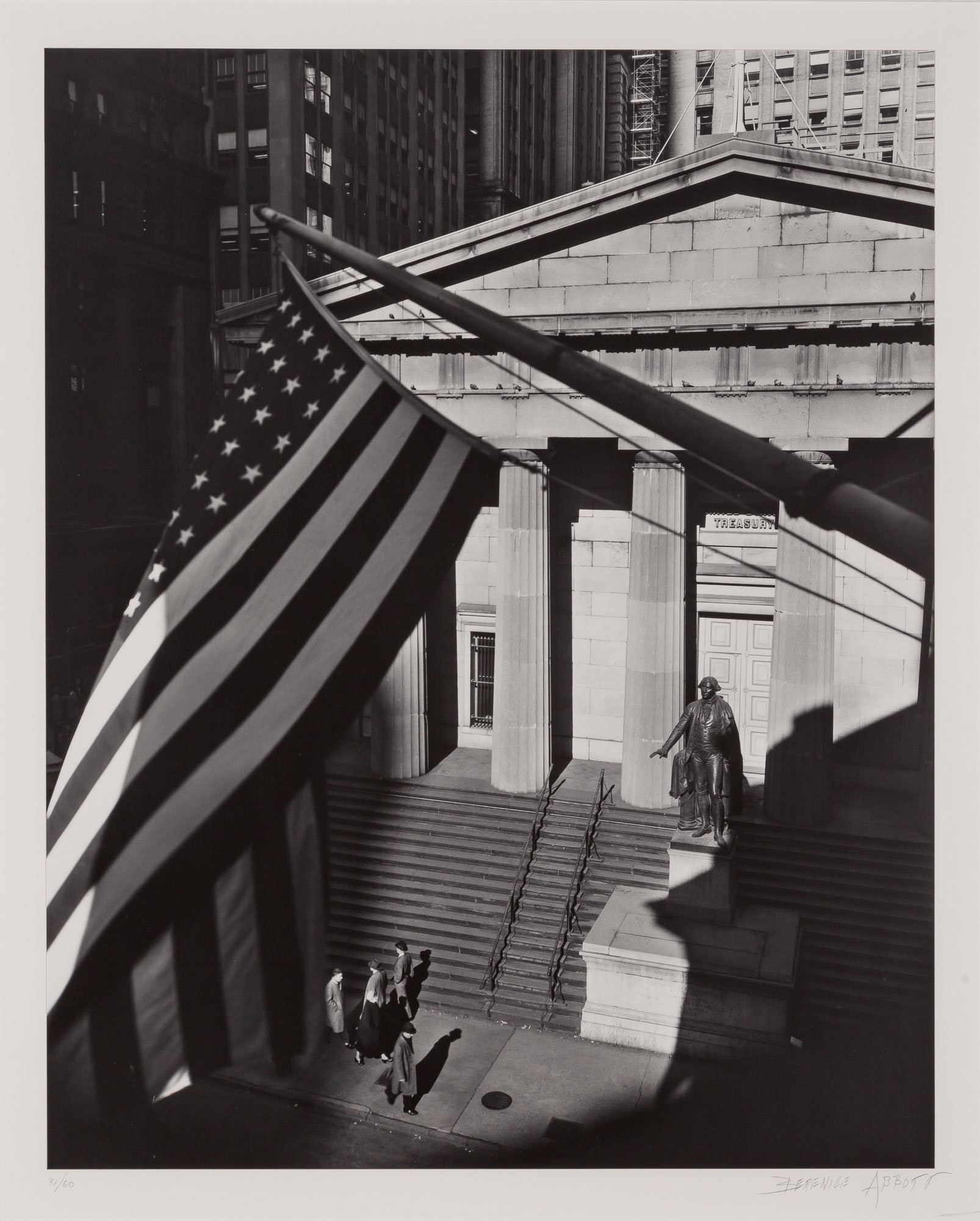 Lot image - ABBOTT, BERENICE (1898-1991)  Treasury Building from J.P. Morgan Office,