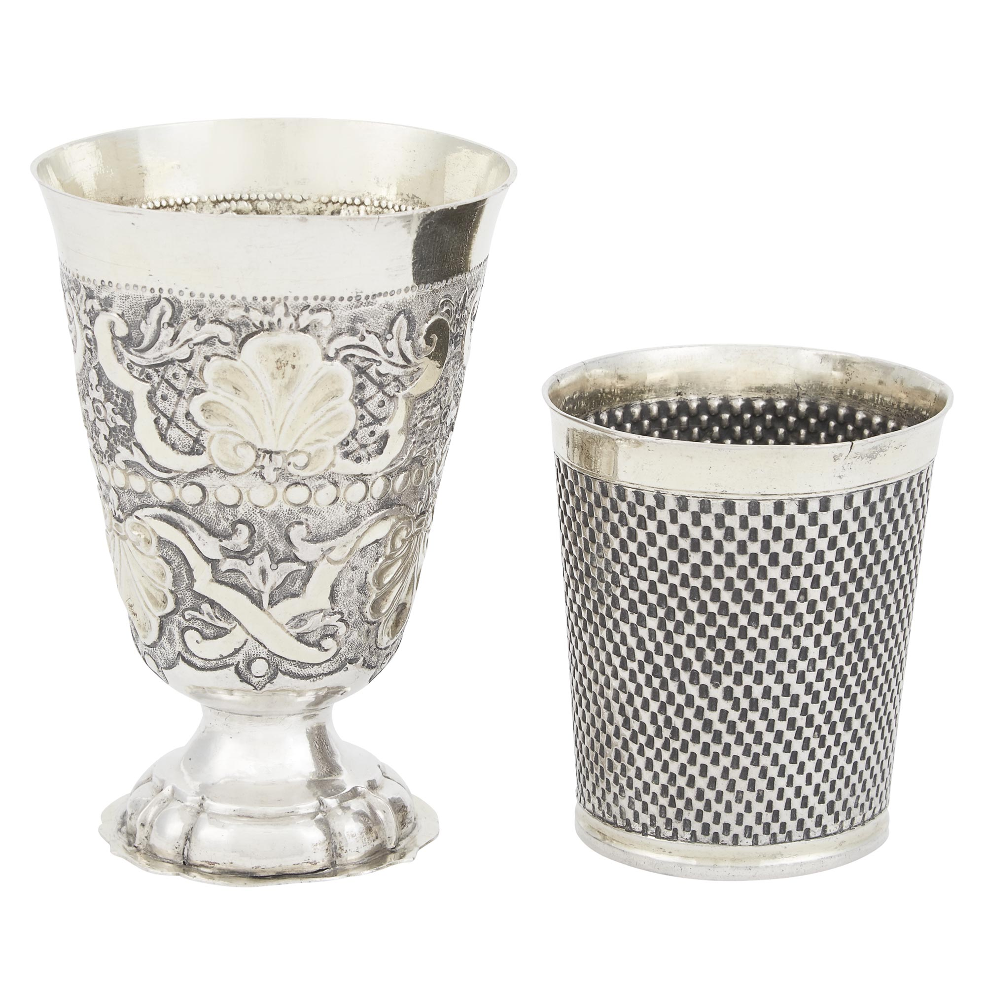 Lot image - German Parcel Gilt Silver Cup
