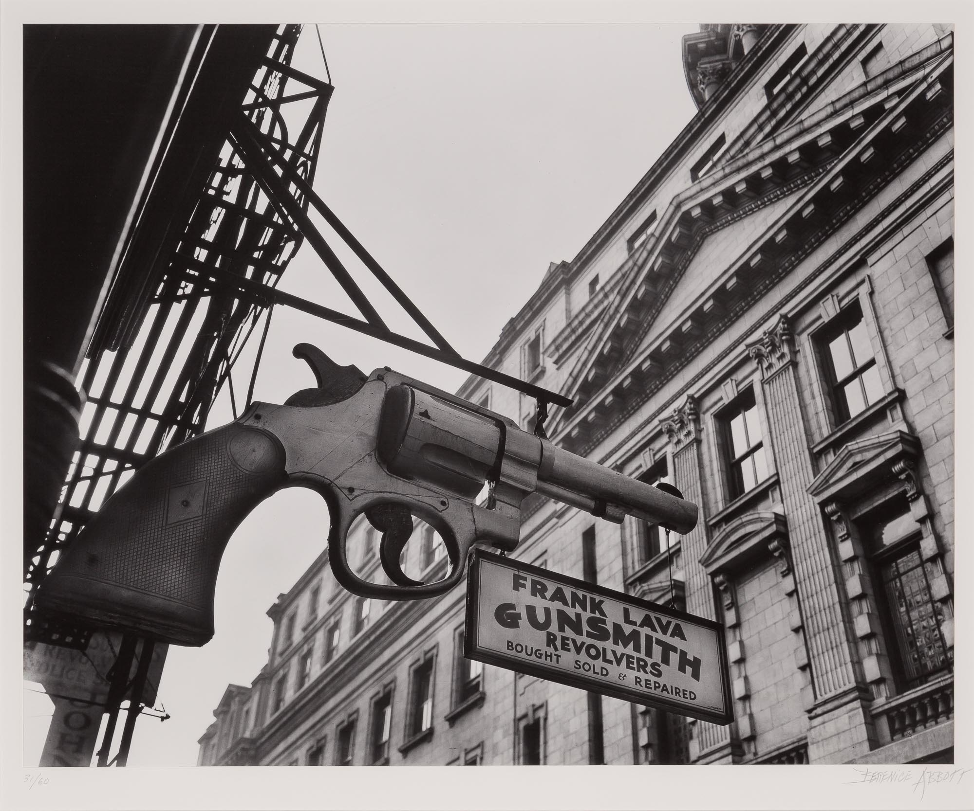 Lot image - ABBOTT, BERENICE (1898-1991)  Gunsmith and Police Department, 6 Centre Market Place, Manhattan,