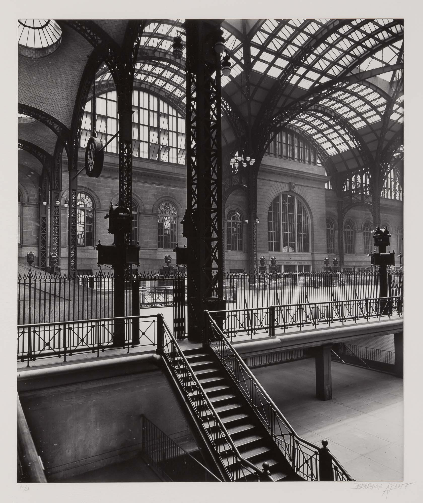 Lot image - ABBOTT, BERENICE (1898-1991)  Pennsylvania Station, New York,