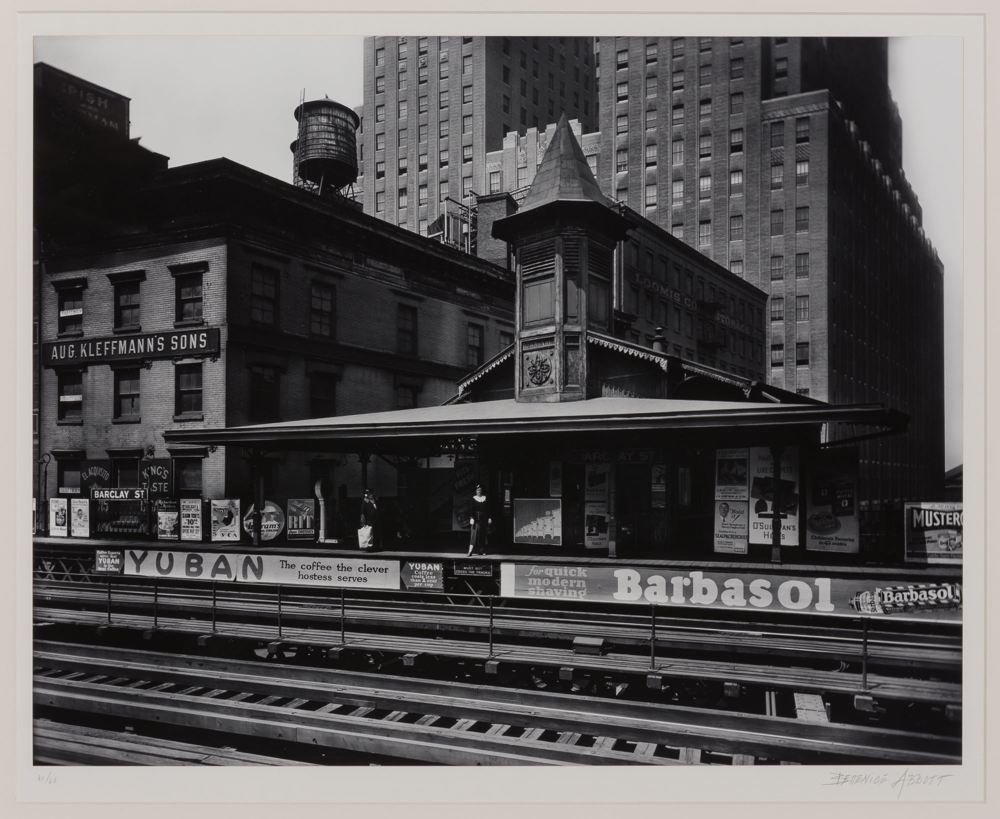 Lot image - ABBOTT, BERENICE (1898-1991)  Barclay Street Station,