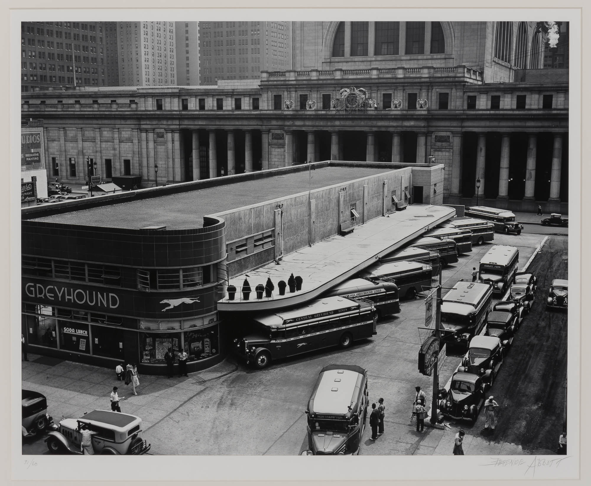 Lot image - ABBOTT, BERENICE (1898-1991)  Greyhound Bus Terminal, 33rd and 34th Streets between 7th and 8th Avenues,
