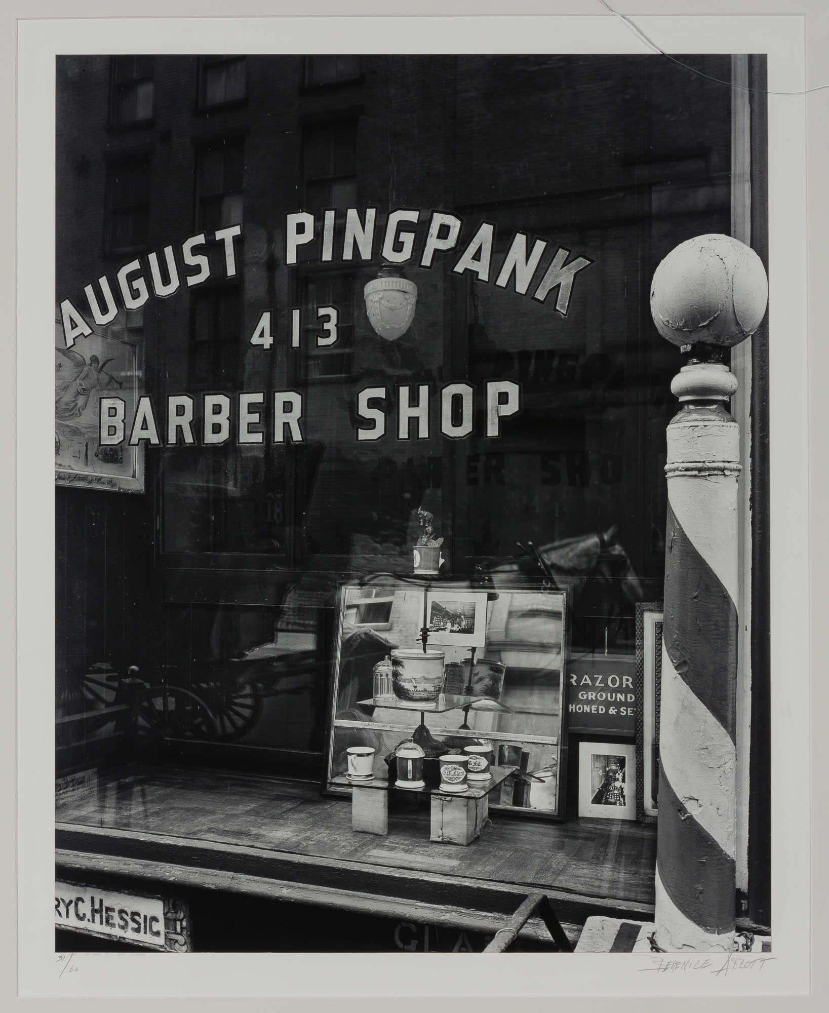 Lot image - ABBOTT, BERENICE (1898-1991)  Pingpank Barber Shop,