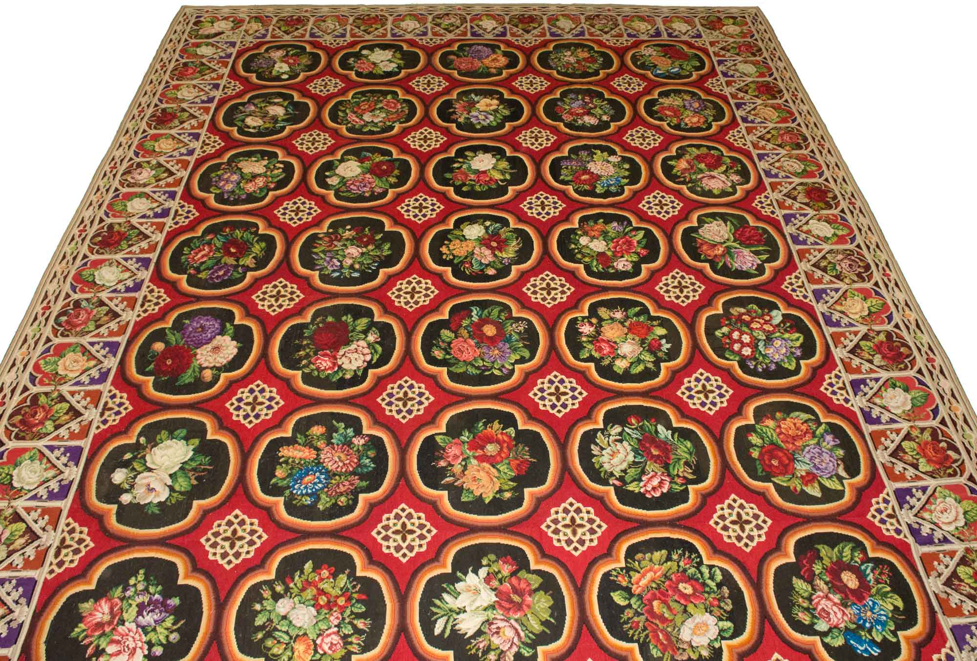 Lot image - French Needlepoint Rug