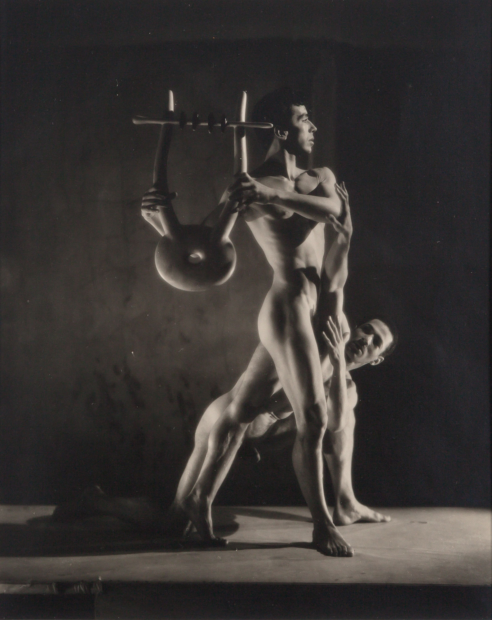 Lot image - LYNES, GEORGE PLATT (1907-1955)  Group of seven vintage gelatin silver prints from the 1948 Balanchine Orpheus