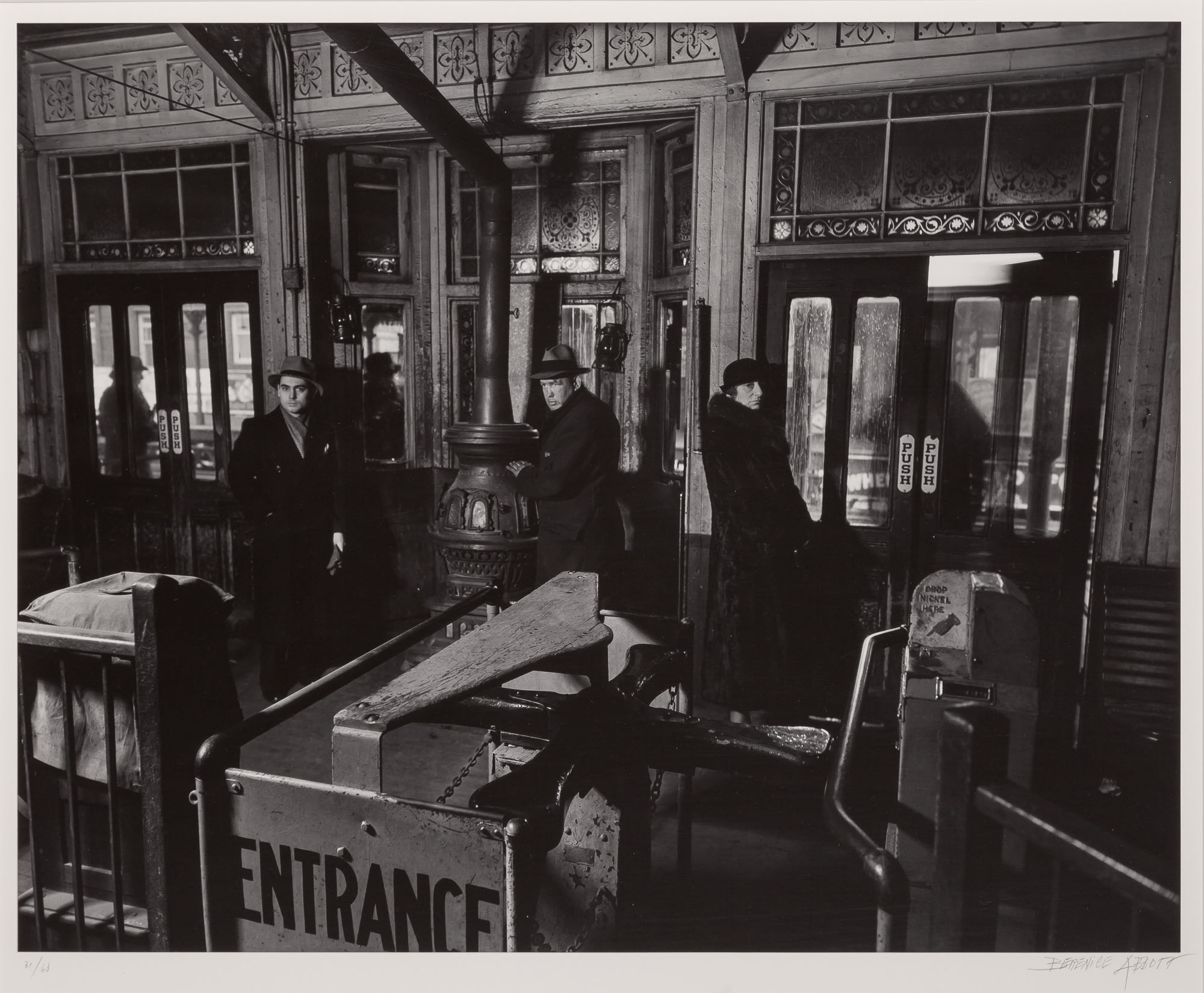 Lot image - ABBOTT, BERENICE (1898-1991)  El Station Interior,