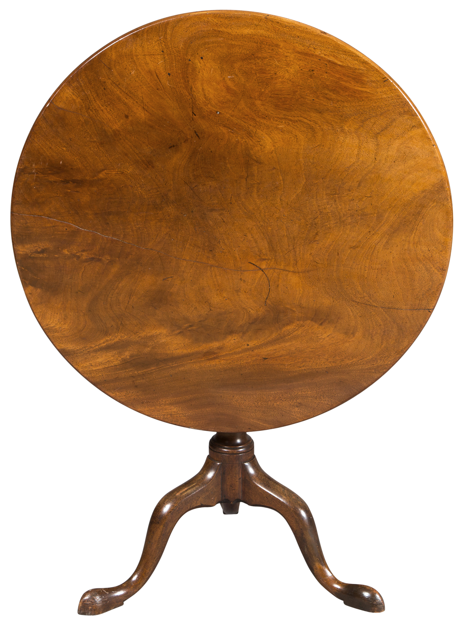 Lot image - George II Mahogany Tilt Top Tripod Table