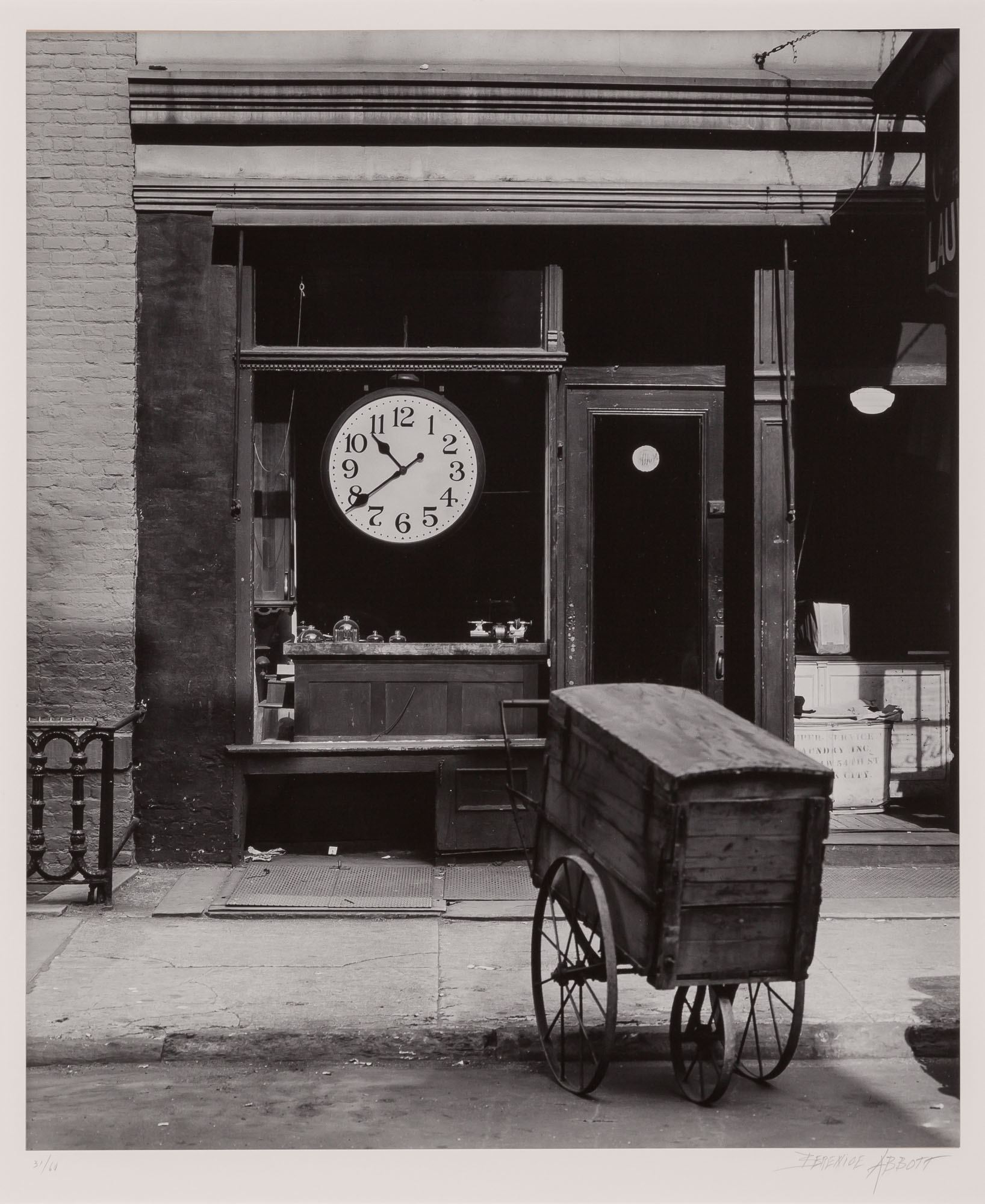 Lot image - ABBOTT, BERENICE (1898-1991)  Repair shop, Christopher St., New York,