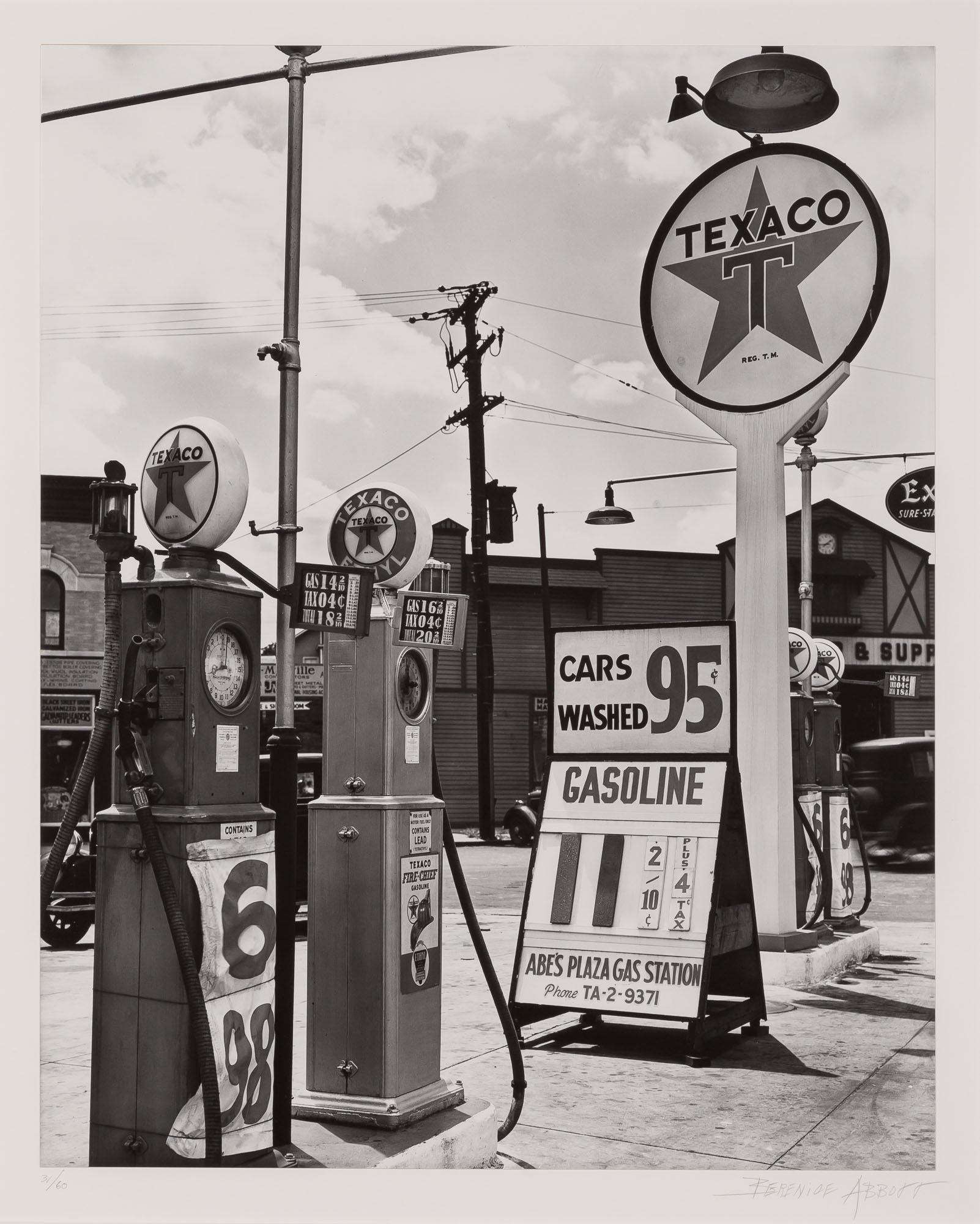 Lot image - ABBOTT, BERENICE (1898-1991)  Texaco Gasoline Station Tremont Avenue & Dock Street, Bronx,