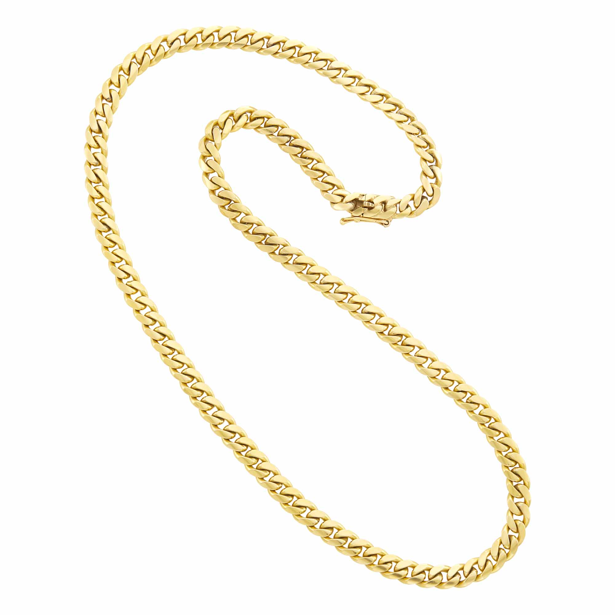 Lot image - Gold Curb Link Chain