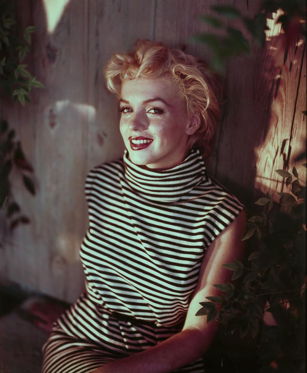 Lot image - [BARON STUDIOS]  Large format portrait of Marilyn Monroe