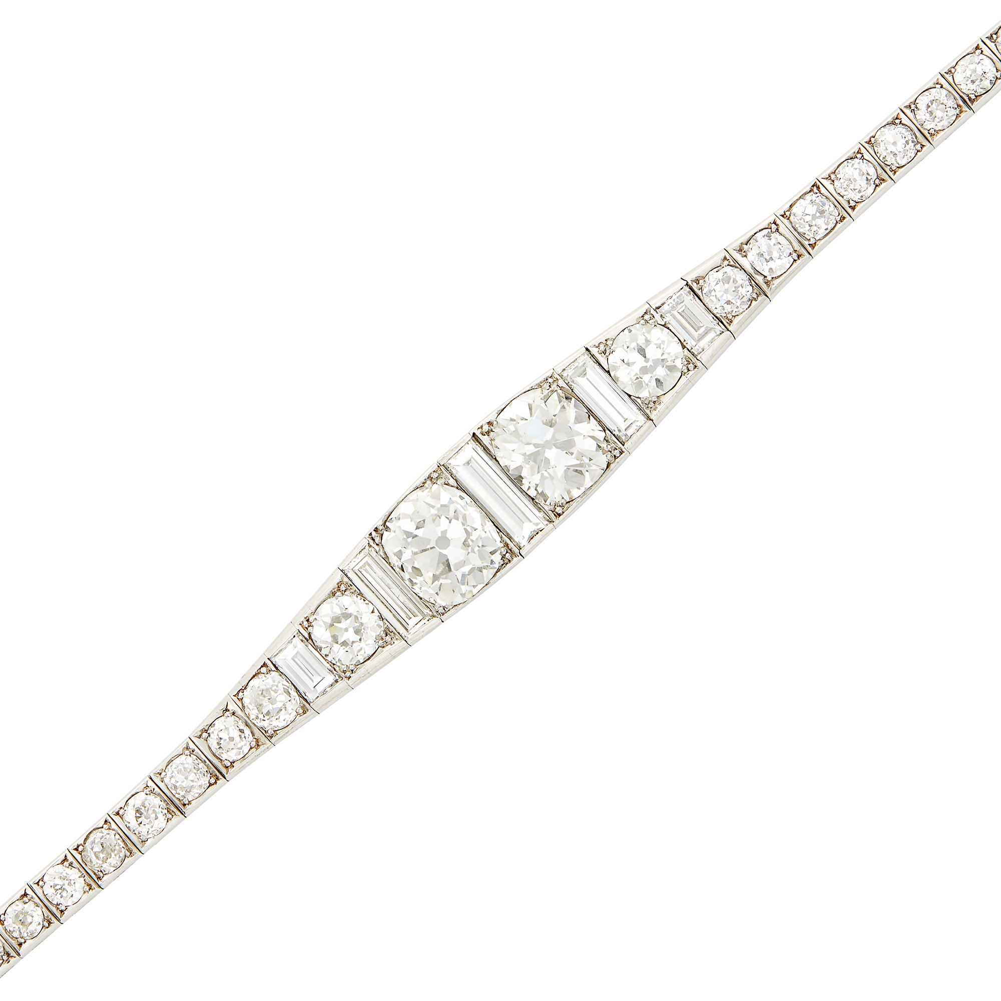Lot image - Platinum and Diamond Bracelet