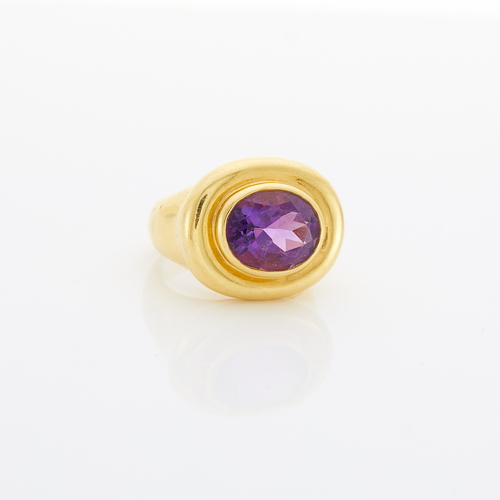 Lot image - Gold and Amethyst Ring, Paloma Picasso, Tiffany & Co.