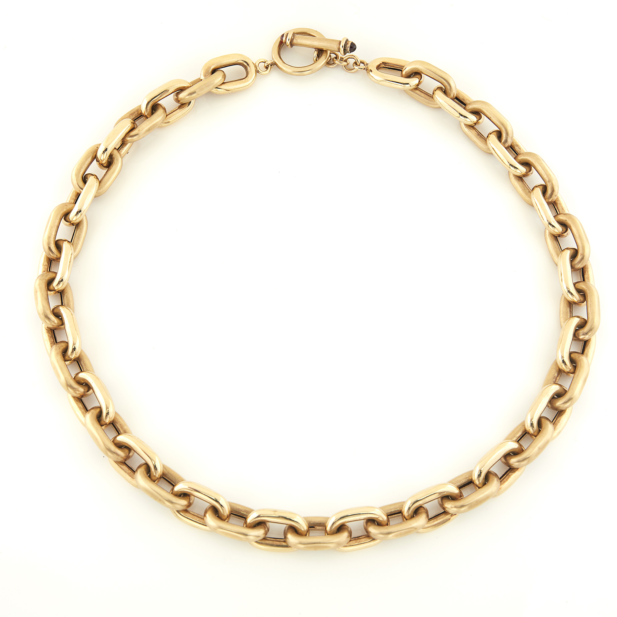 Lot image - Gold Link Toggle Necklace