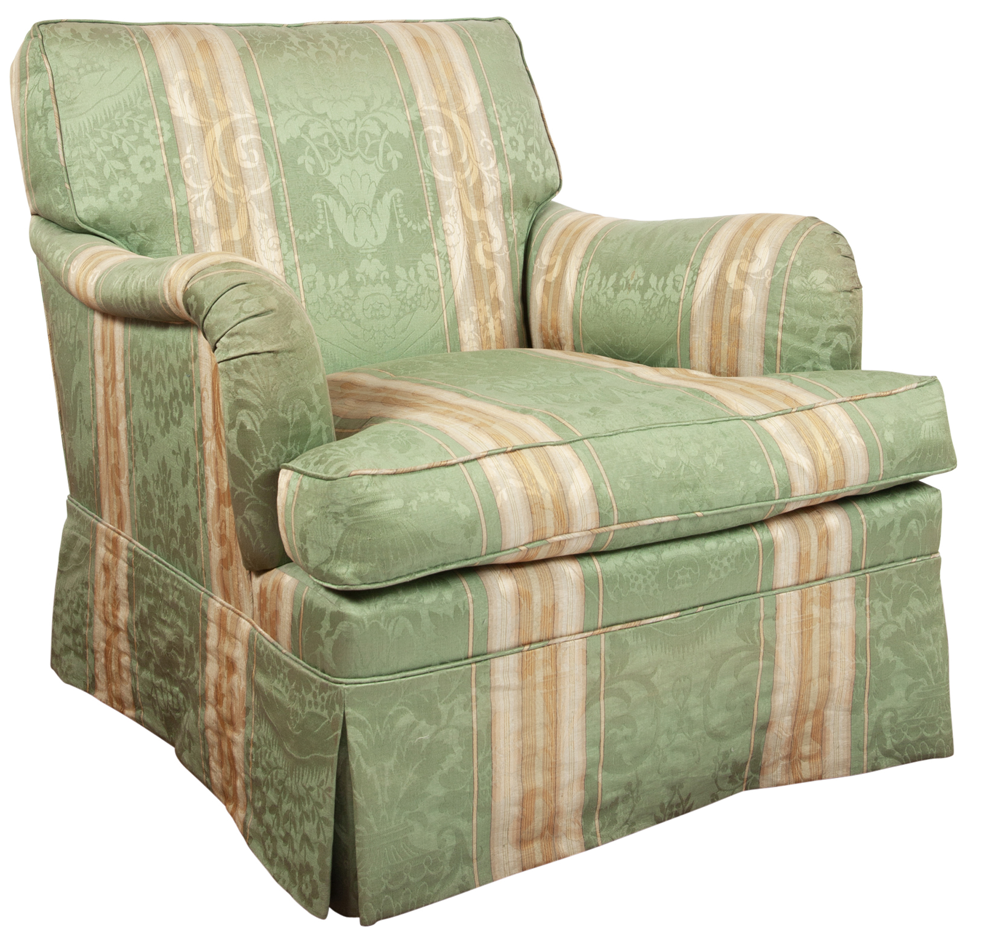 Lot image - Upholstered Club Chair