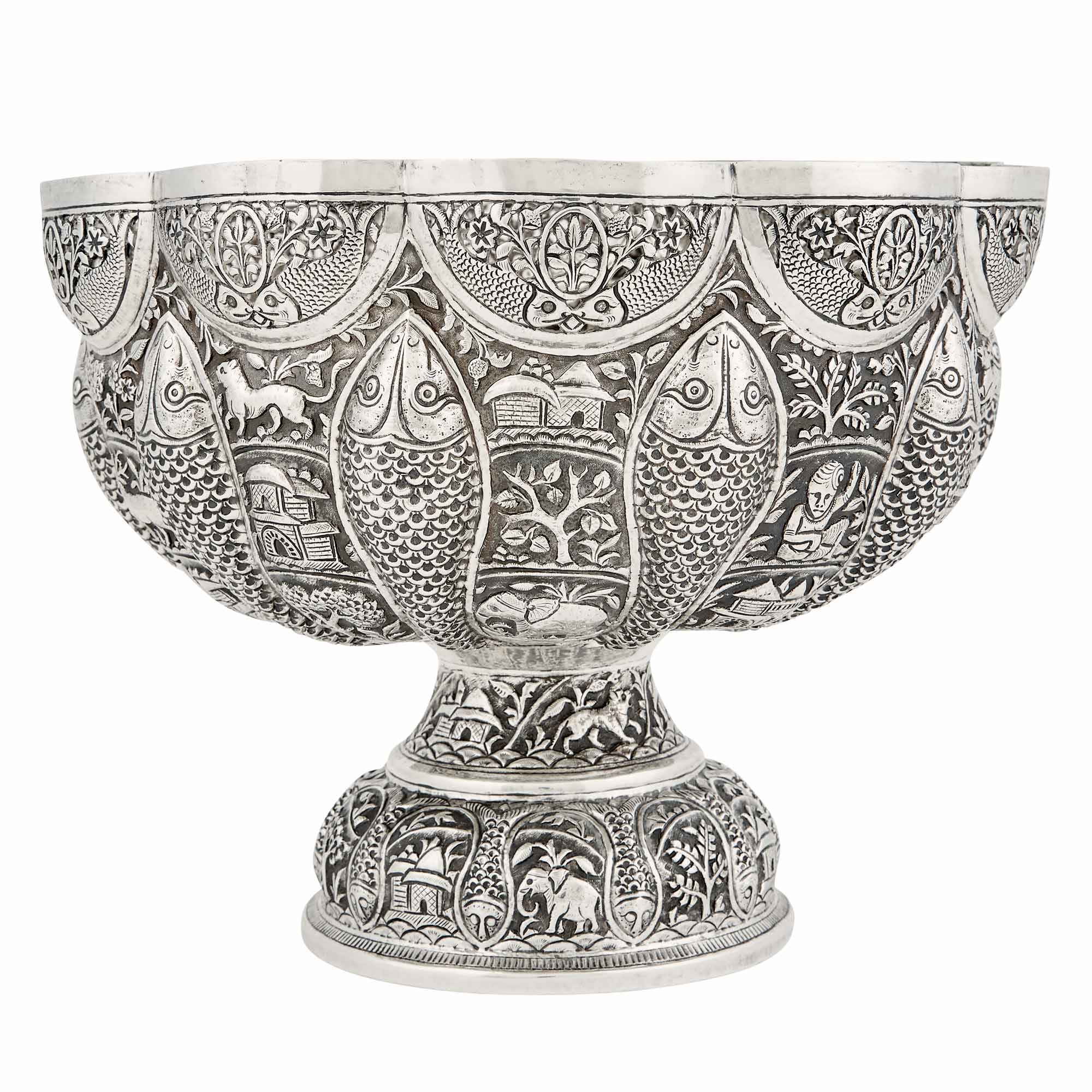 Lot image - Indian Silver Bowl