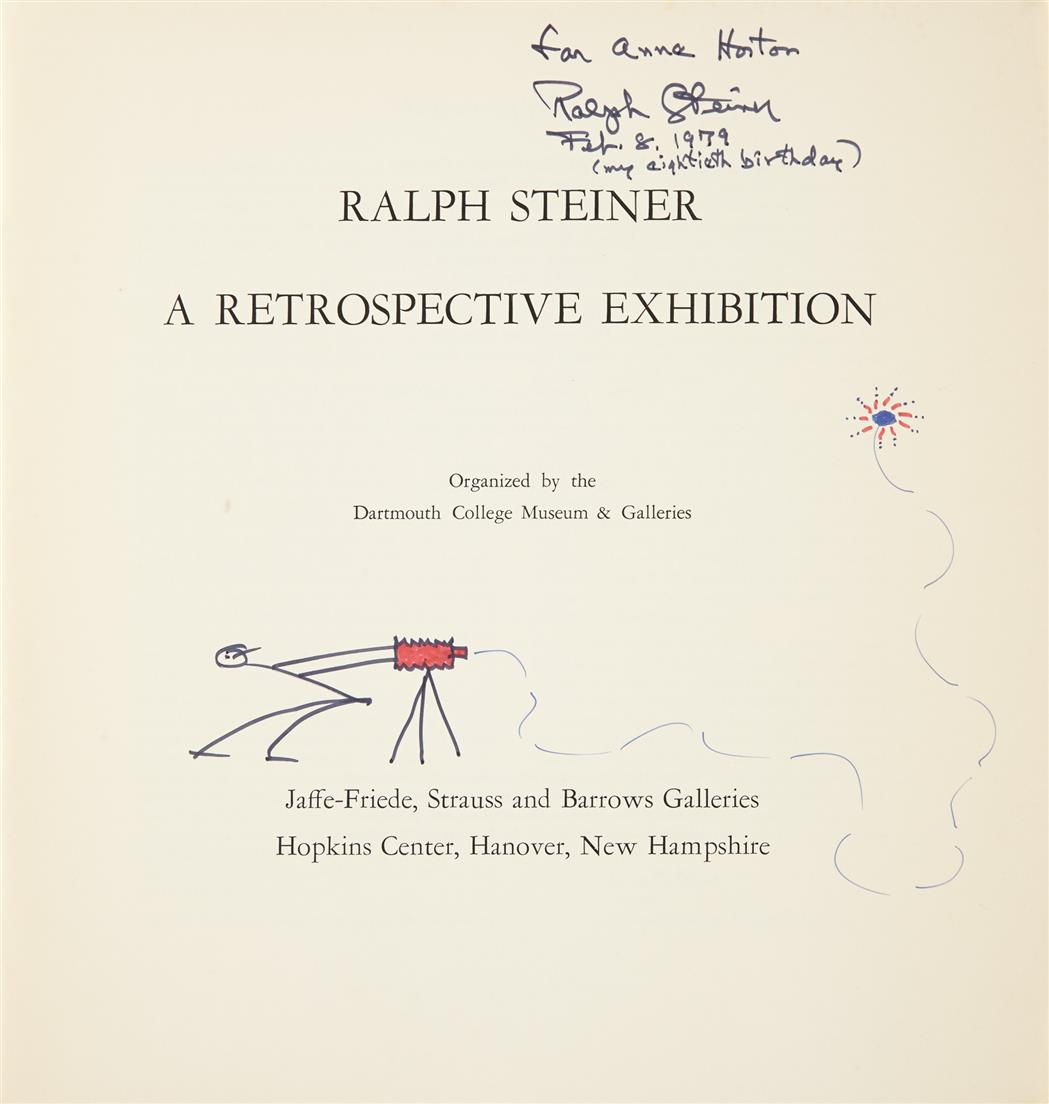 Lot image - [SIGNED PHOTOBOOKS]  STEINER, RALPH. Two volumes inscribed to Anne Horton.
