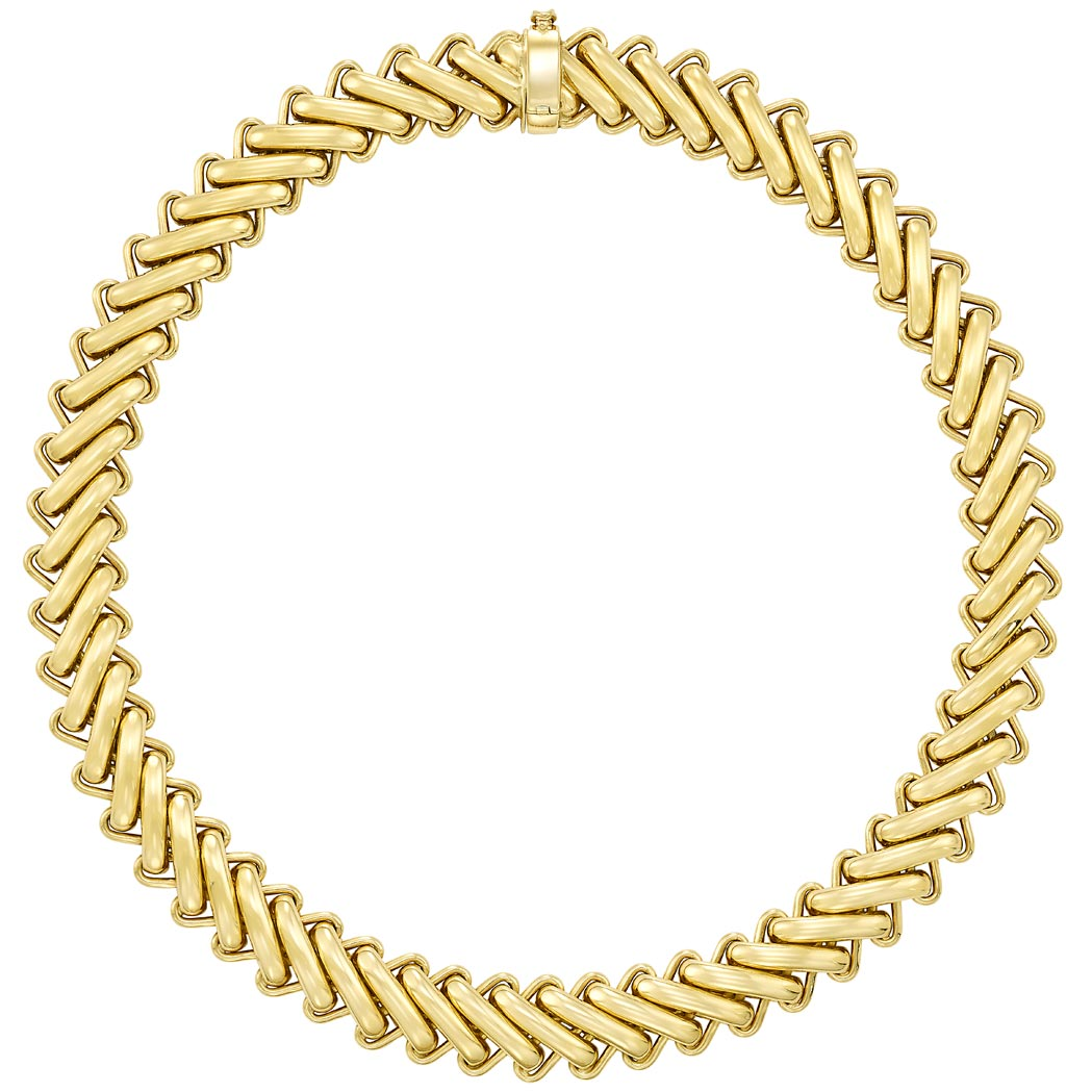 Lot image - Gold Necklace