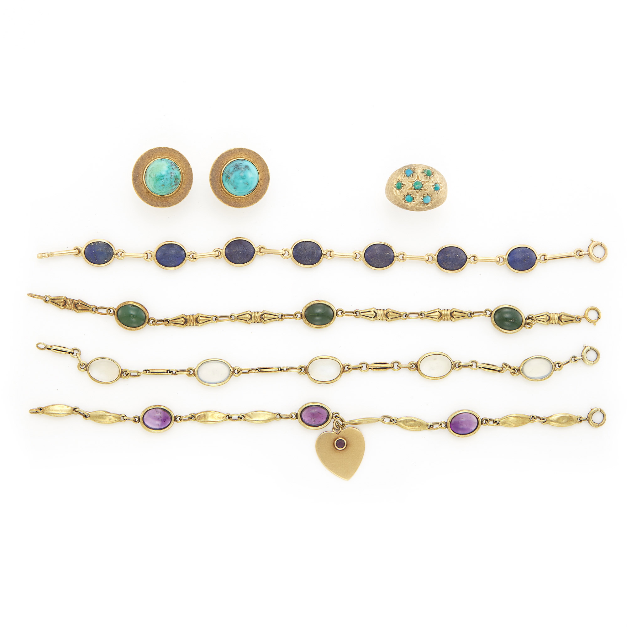 Lot image - Group of Gold and Gem-Set Jewelry