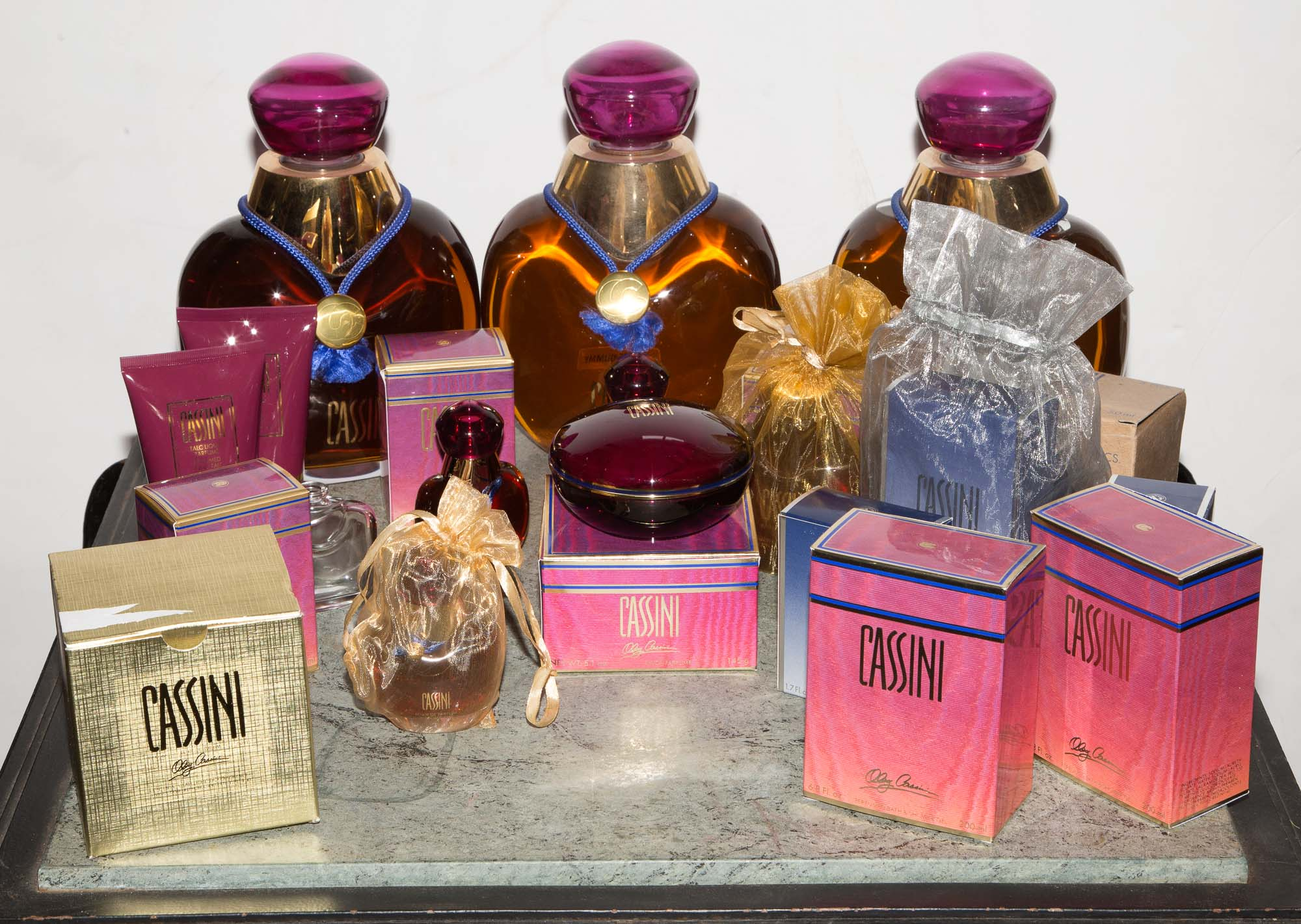 Lot image - OLEG CASSINI - PERFUME, BATH PRODUCTS & GIFTS  A large lot of Cassini perfume, bath products and related items.