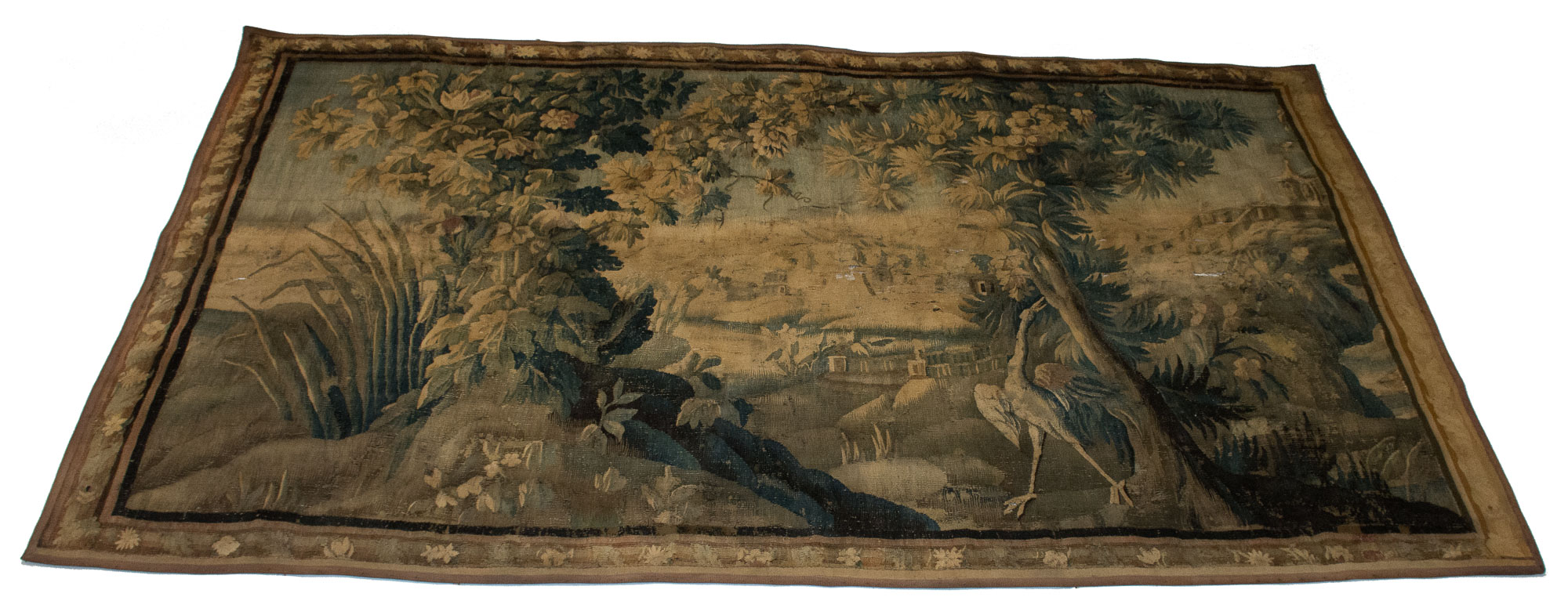 Lot image - Aubusson Verdure Tapestry