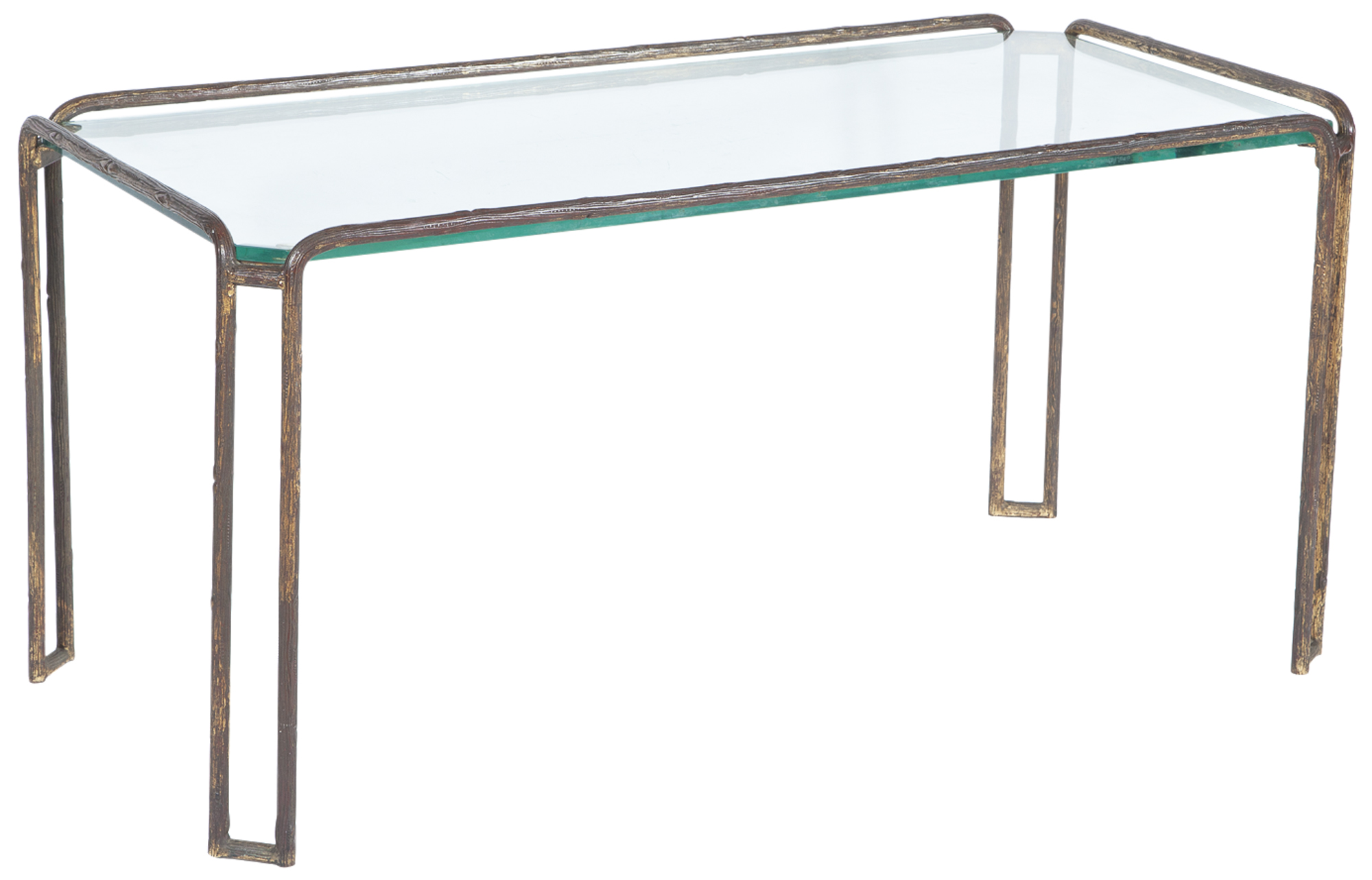 Lot image - Maison Jansen Bronze and Glass Low Table