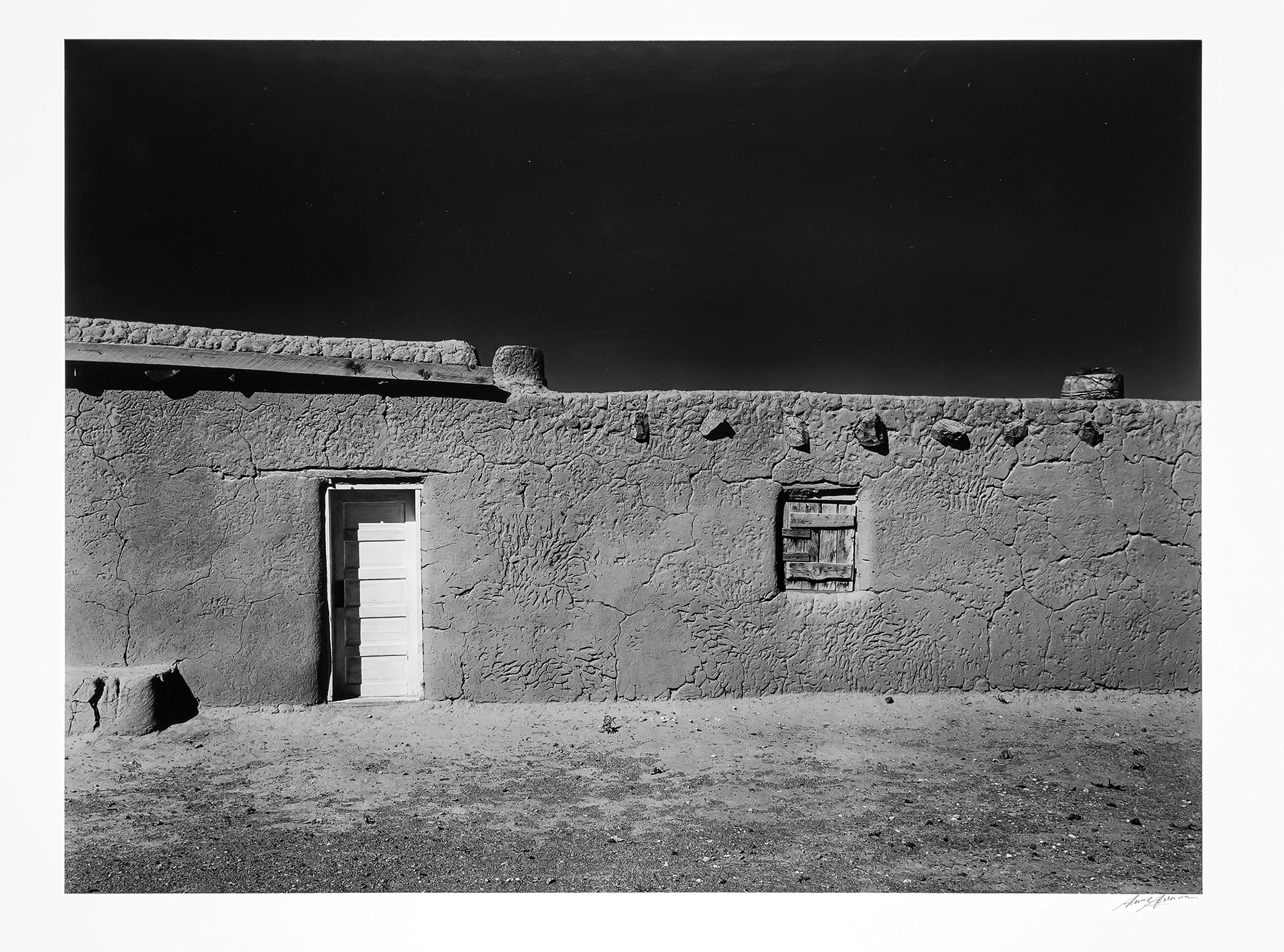 Lot image - ADAMS, ANSEL (1902-1984)  Penitente Morada, Coyote, New Mexico, 1950.